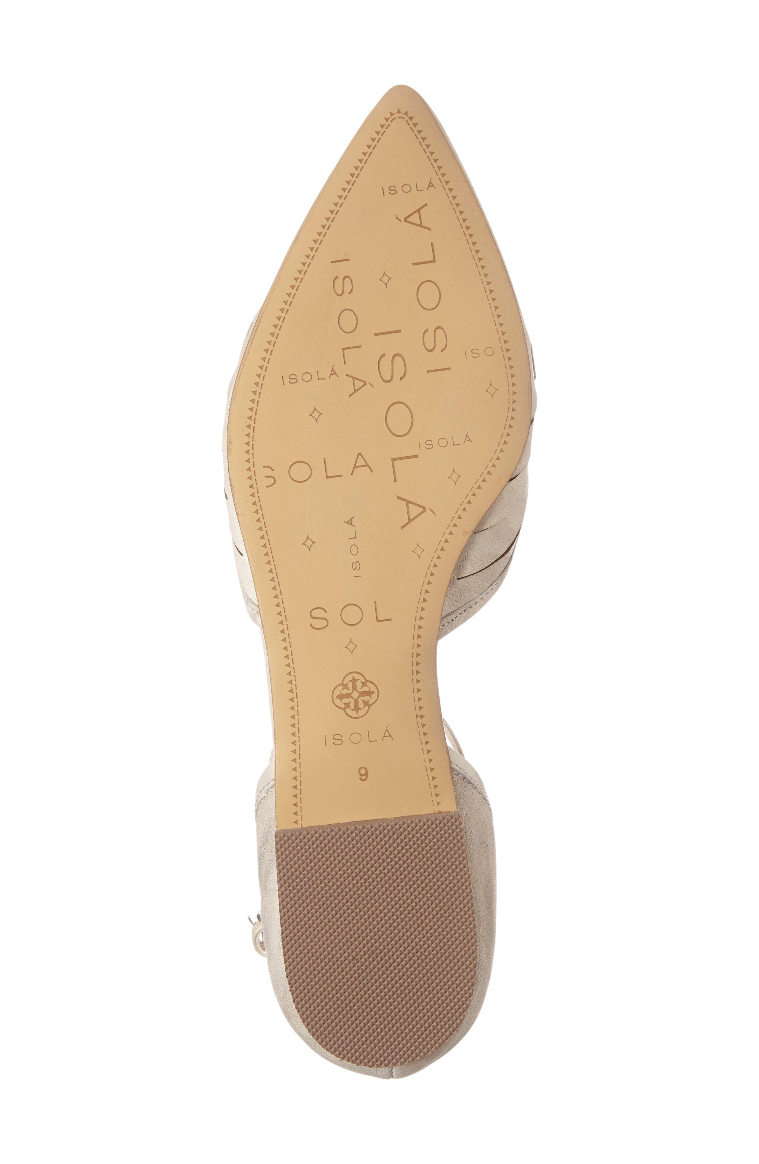 Alternate Image 4  - Isolá Cellino Ankle Strap Flat (Women)