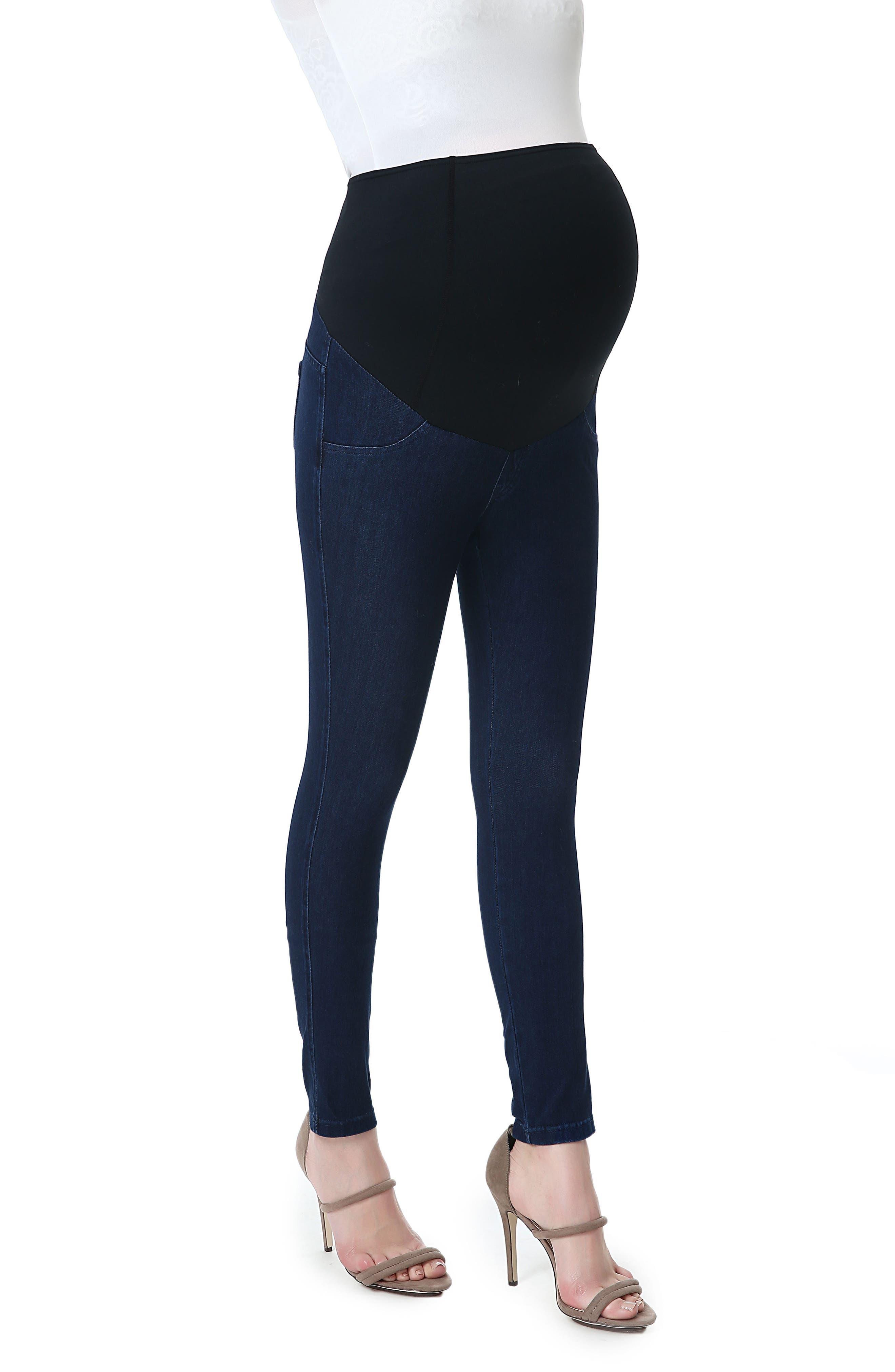 Kimi & Kai Lenora Maternity Leggings,                         Main,                         color, Denim Blue