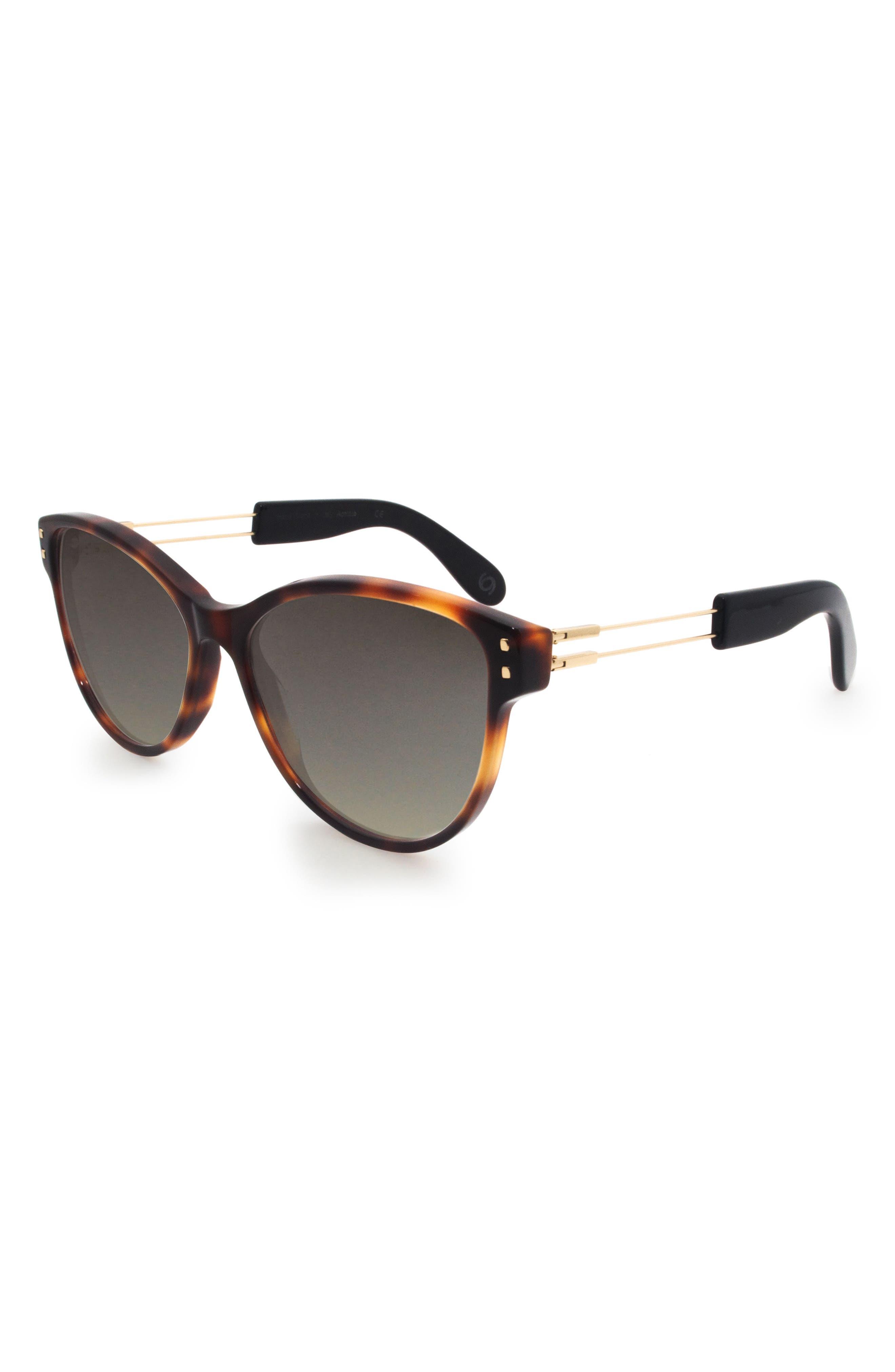 Alternate Image 2  - GLASSING Francy 56mm Gradient Cat Eye Sunglasses