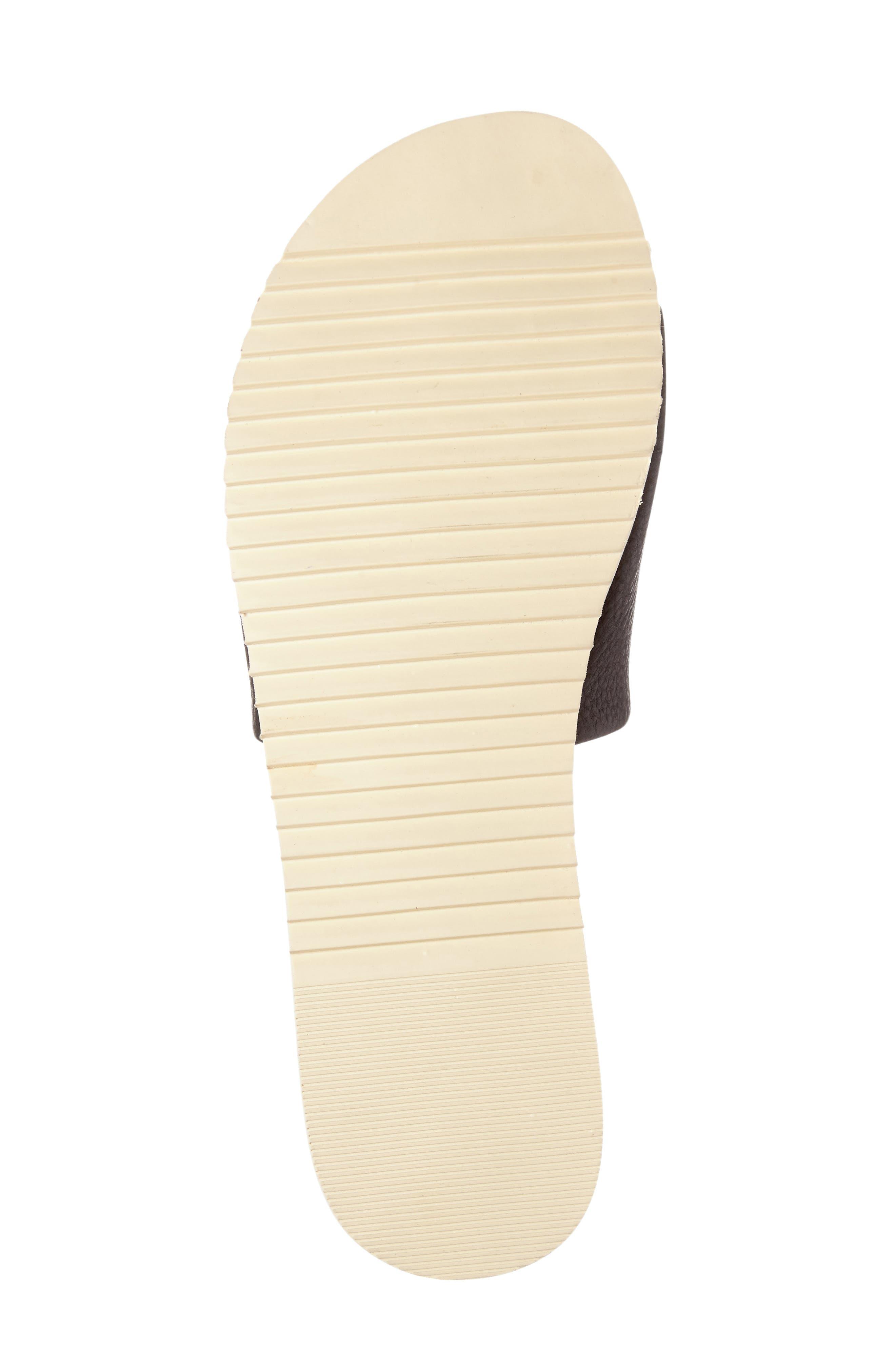 Jazz Slide Sandal,                             Alternate thumbnail 4, color,                             Black Leather