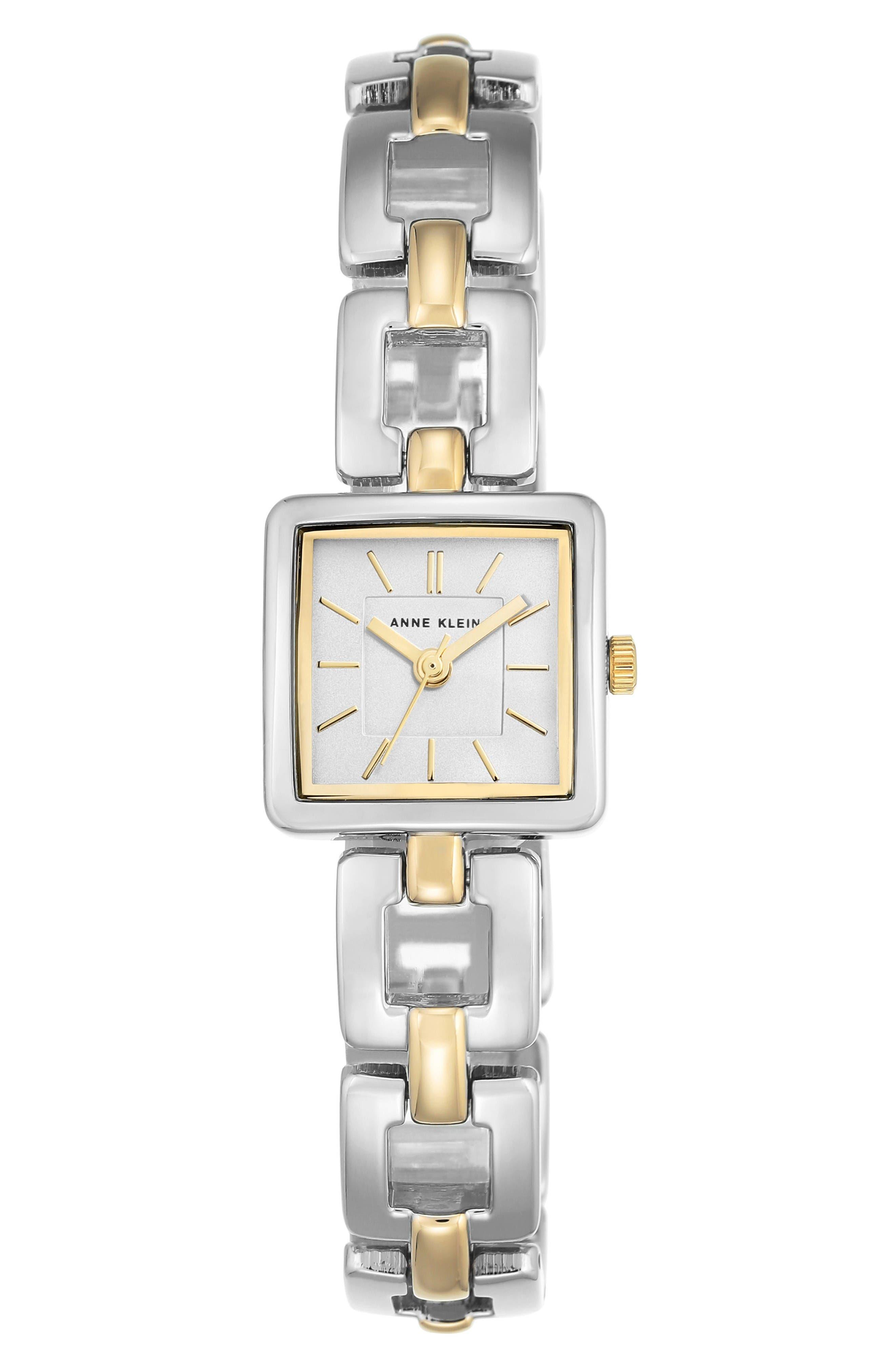ANNE KLEIN Square Bracelet Watch, 20mm