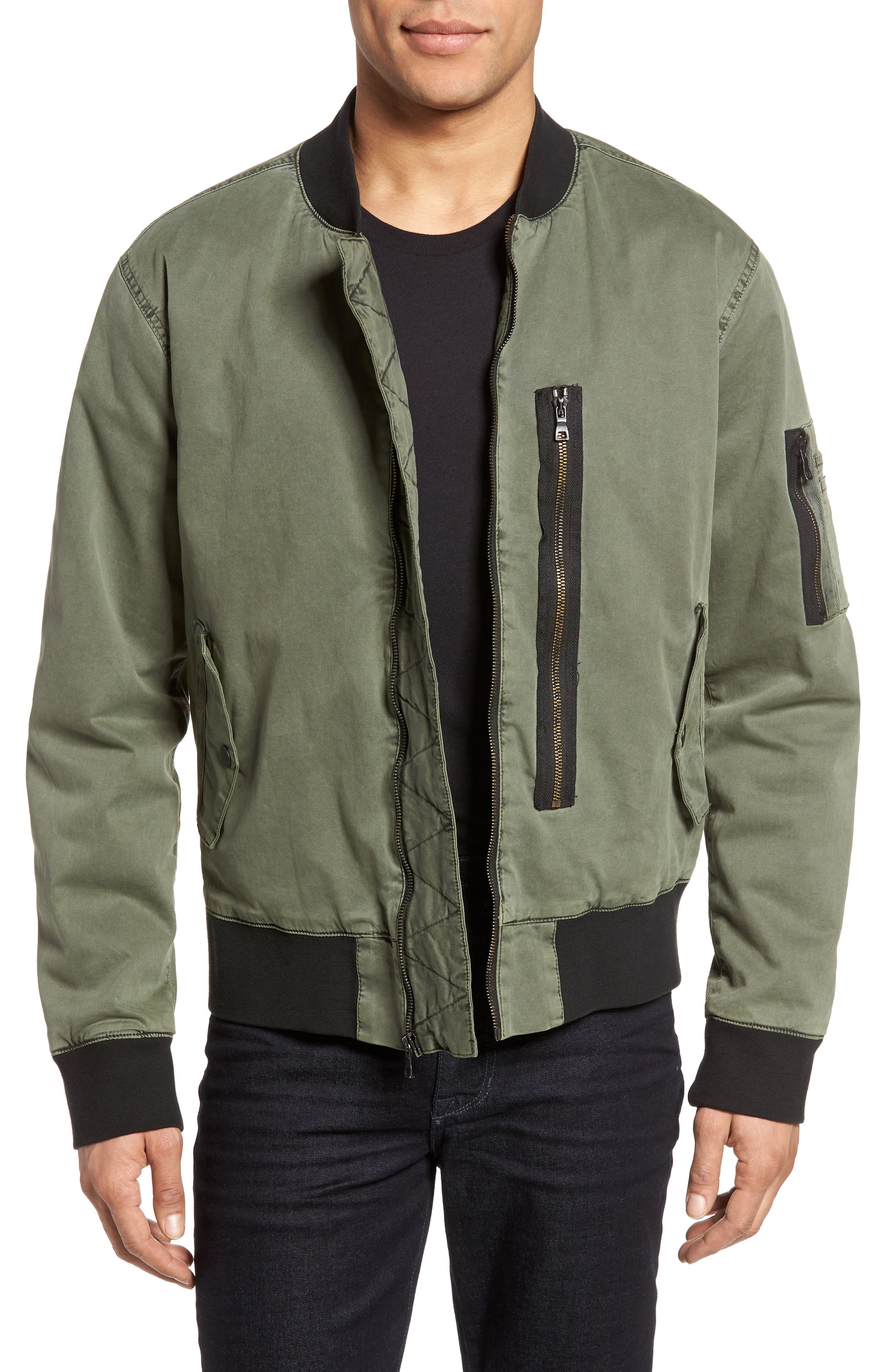 Knox Twill Bomber Jacket,                         Main,                         color, Infantry Green