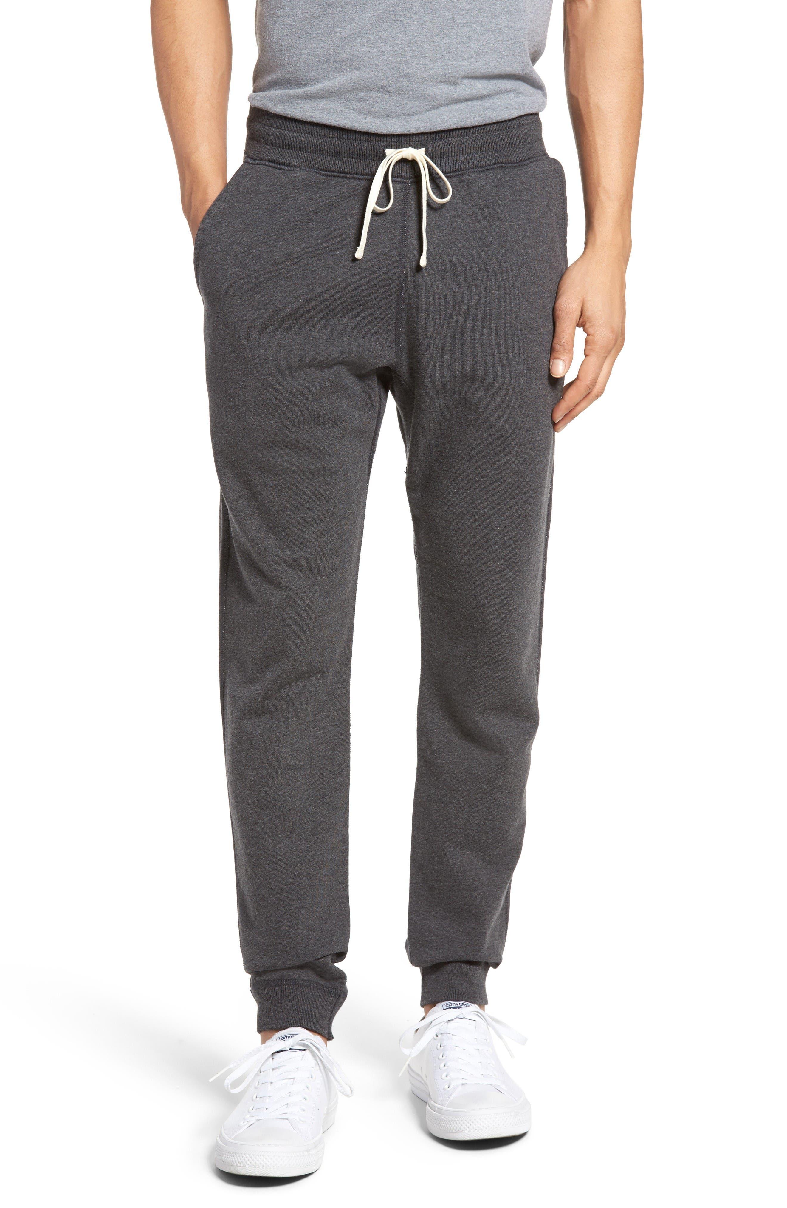 Slim Fit Sweatpants,                         Main,                         color, Heather Charcoal