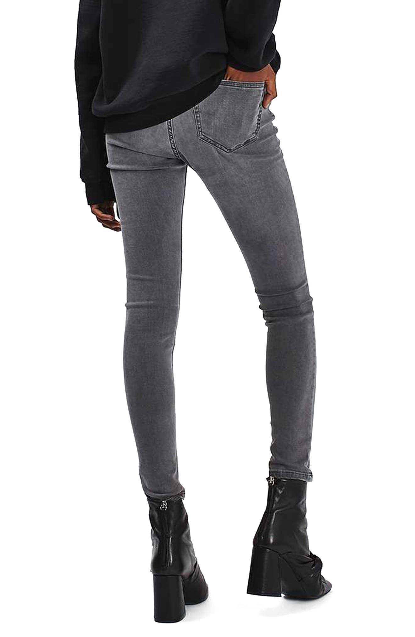 Alternate Image 3  - Topshop 'Jamie' Ripped Ankle Skinny Jeans (Regular & Tall)