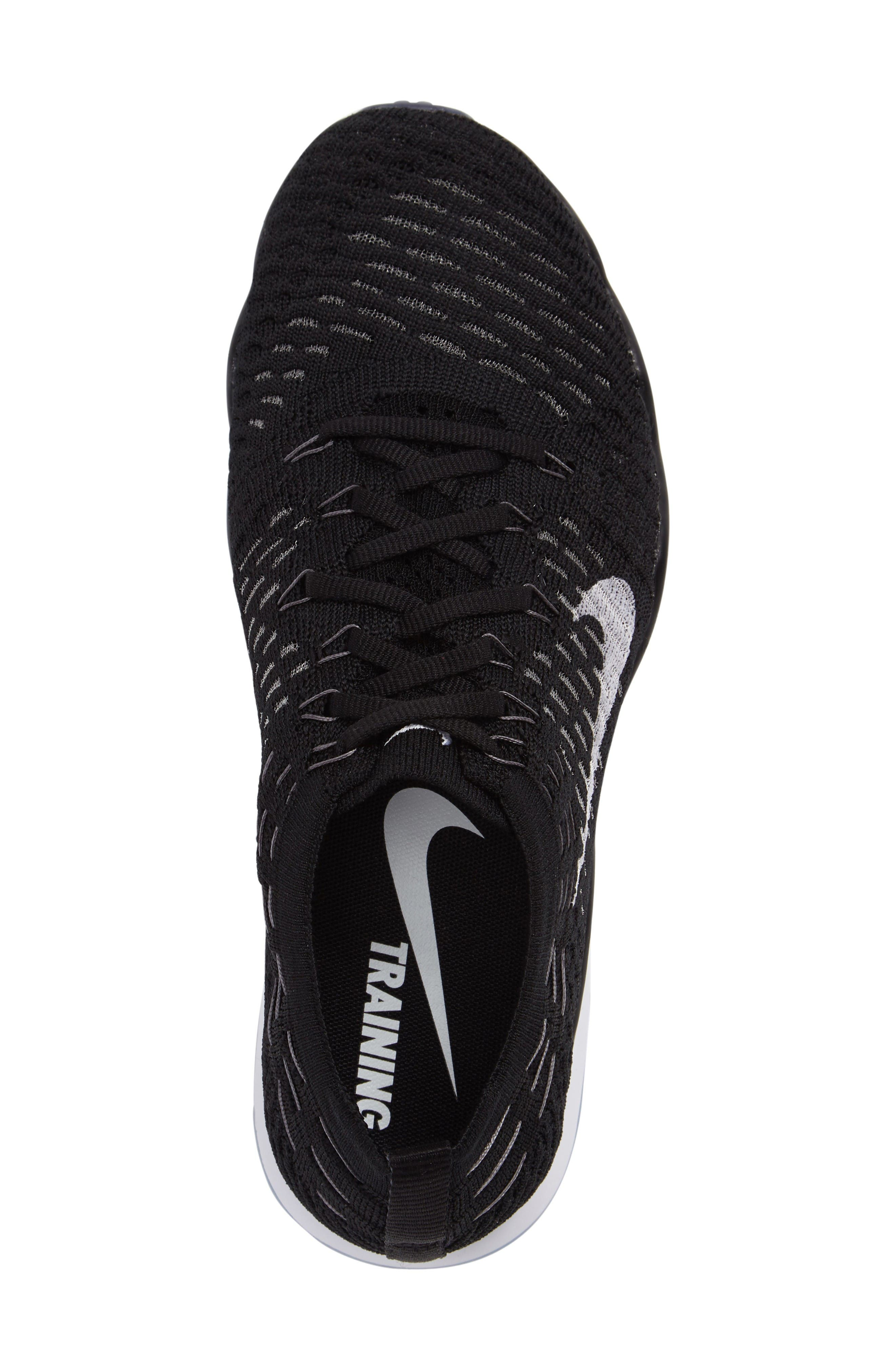 Air Zoom Fearless Flyknit Training Shoe,                             Alternate thumbnail 3, color,                             Black/ White