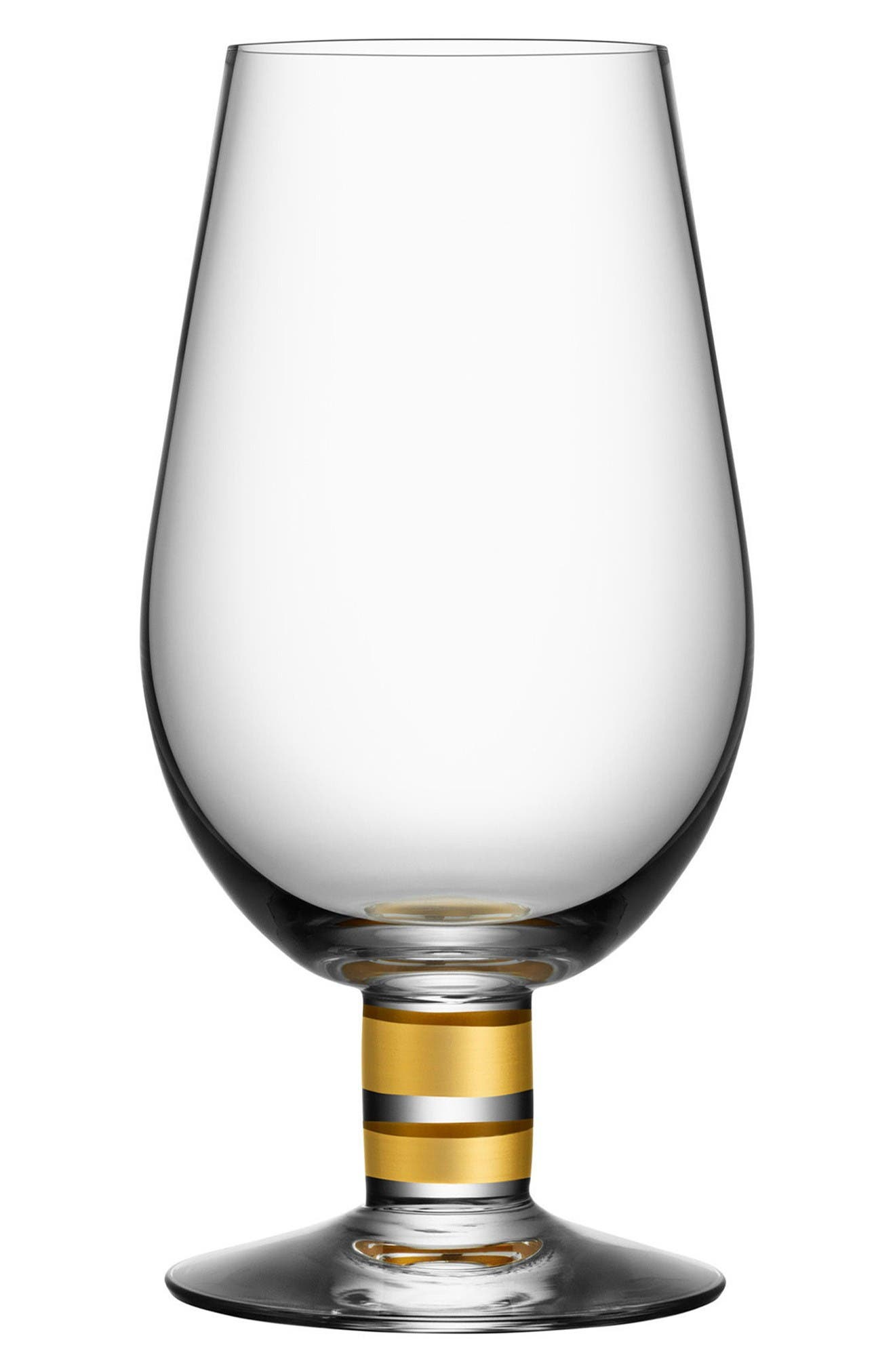 Morberg Collection Set of 2 Footed Crystal Beer Glasses,                             Main thumbnail 1, color,                             Clear