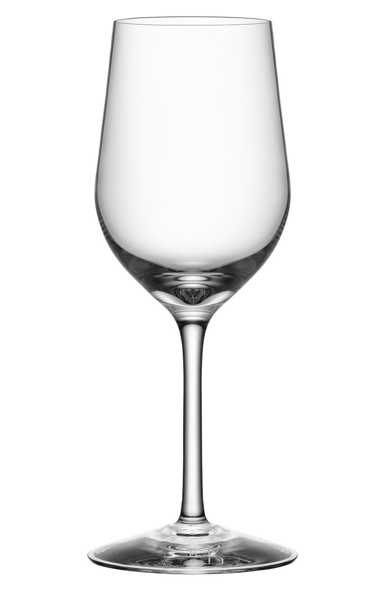 Orrefors Morberg Collection Set of 4 Crystal White Wine Glasses