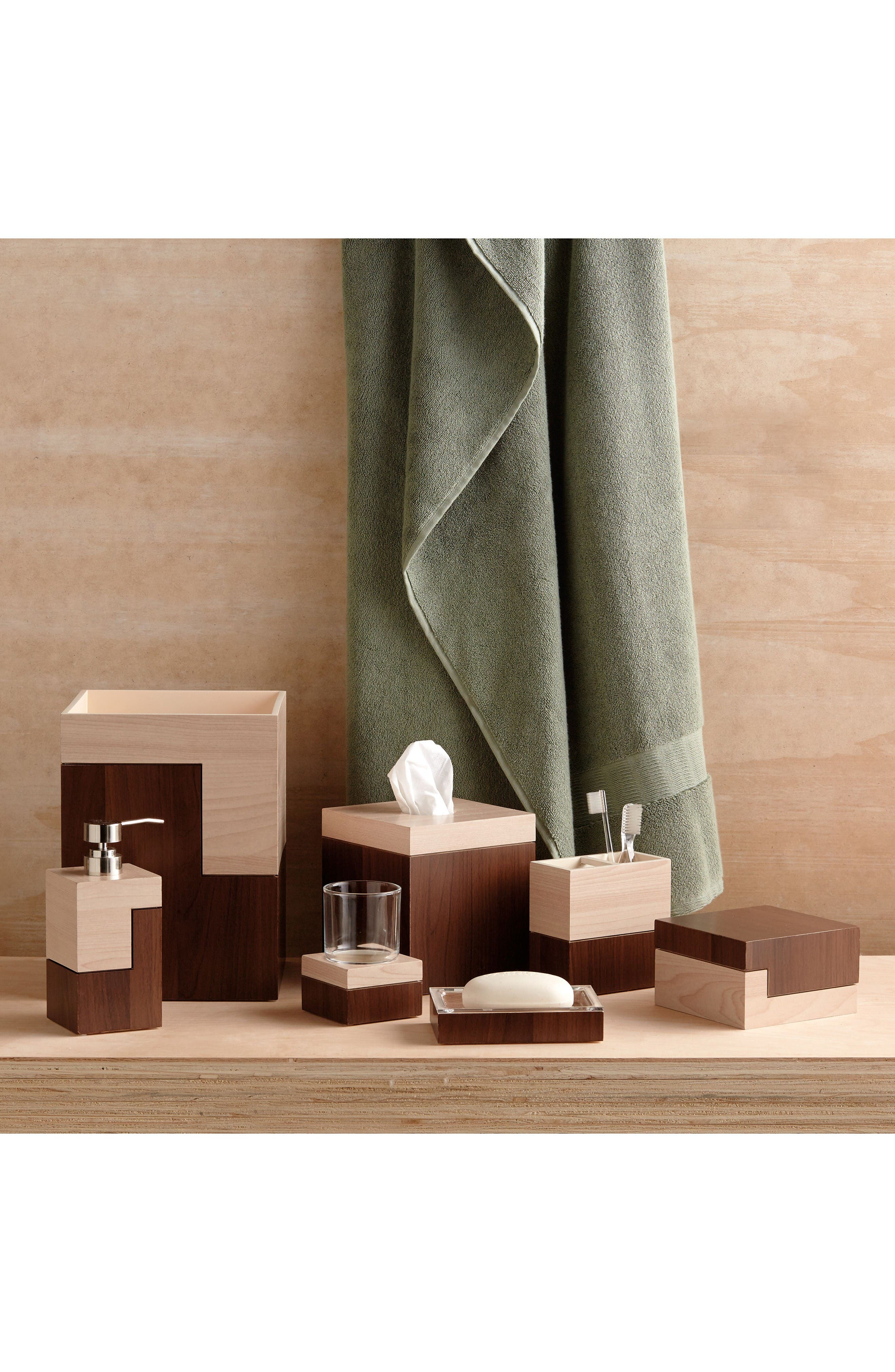 Wood Veneer Block Lotion Pump,                             Alternate thumbnail 3, color,                             Brown