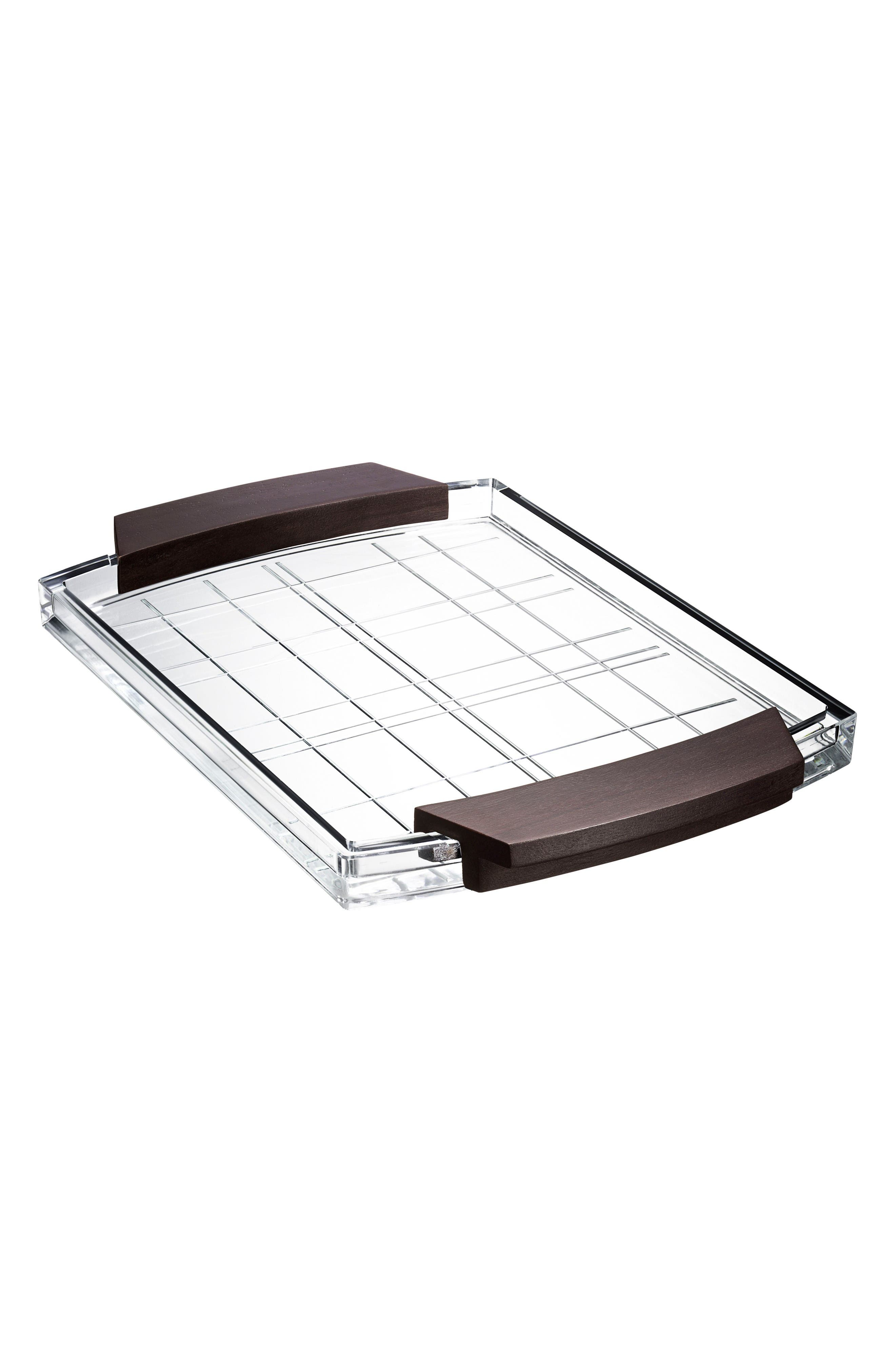 Street Serving Tray,                         Main,                         color, Clear