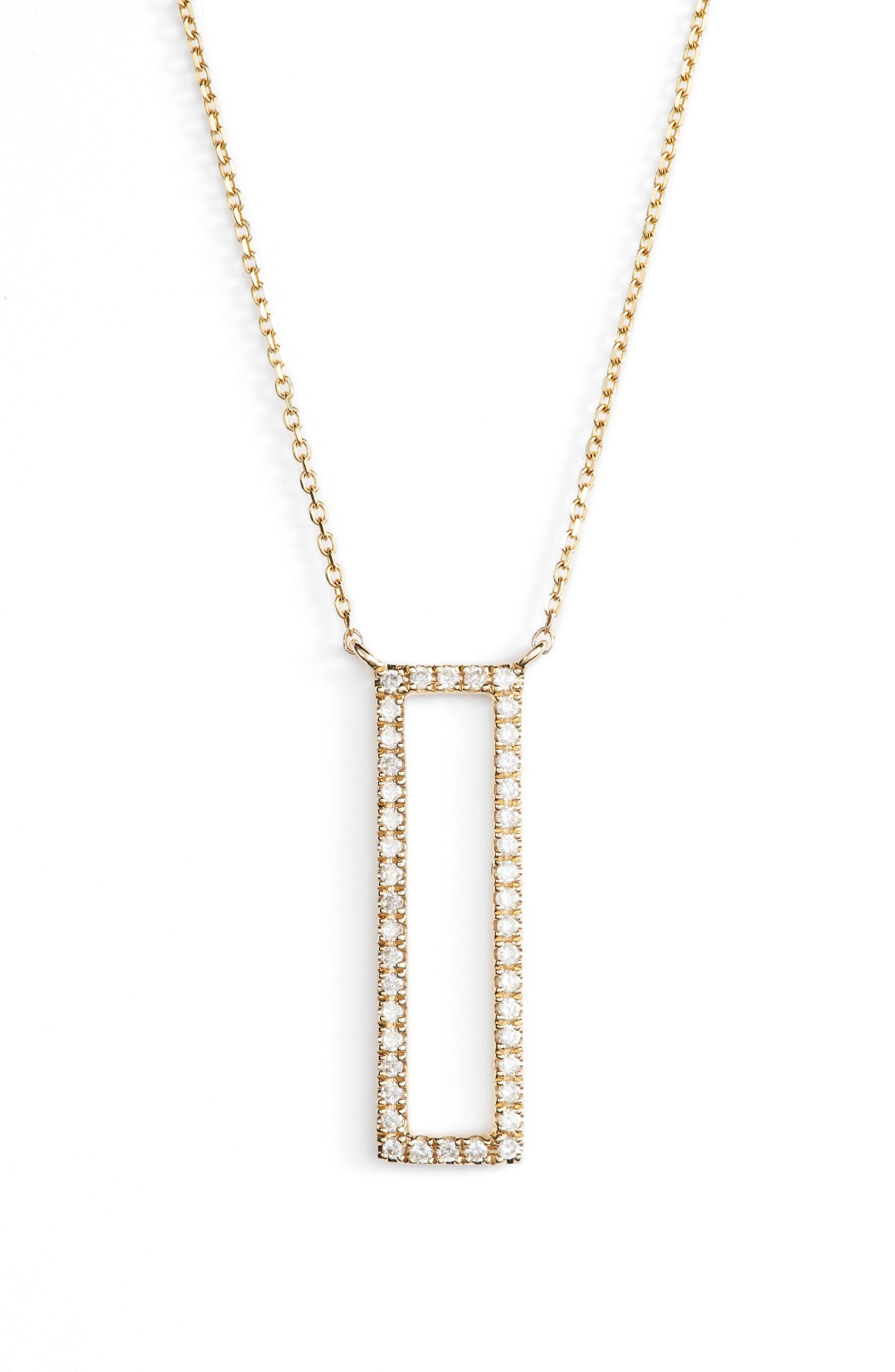 Main Image - Dana Rebecca Designs Diamond Pendant Necklace