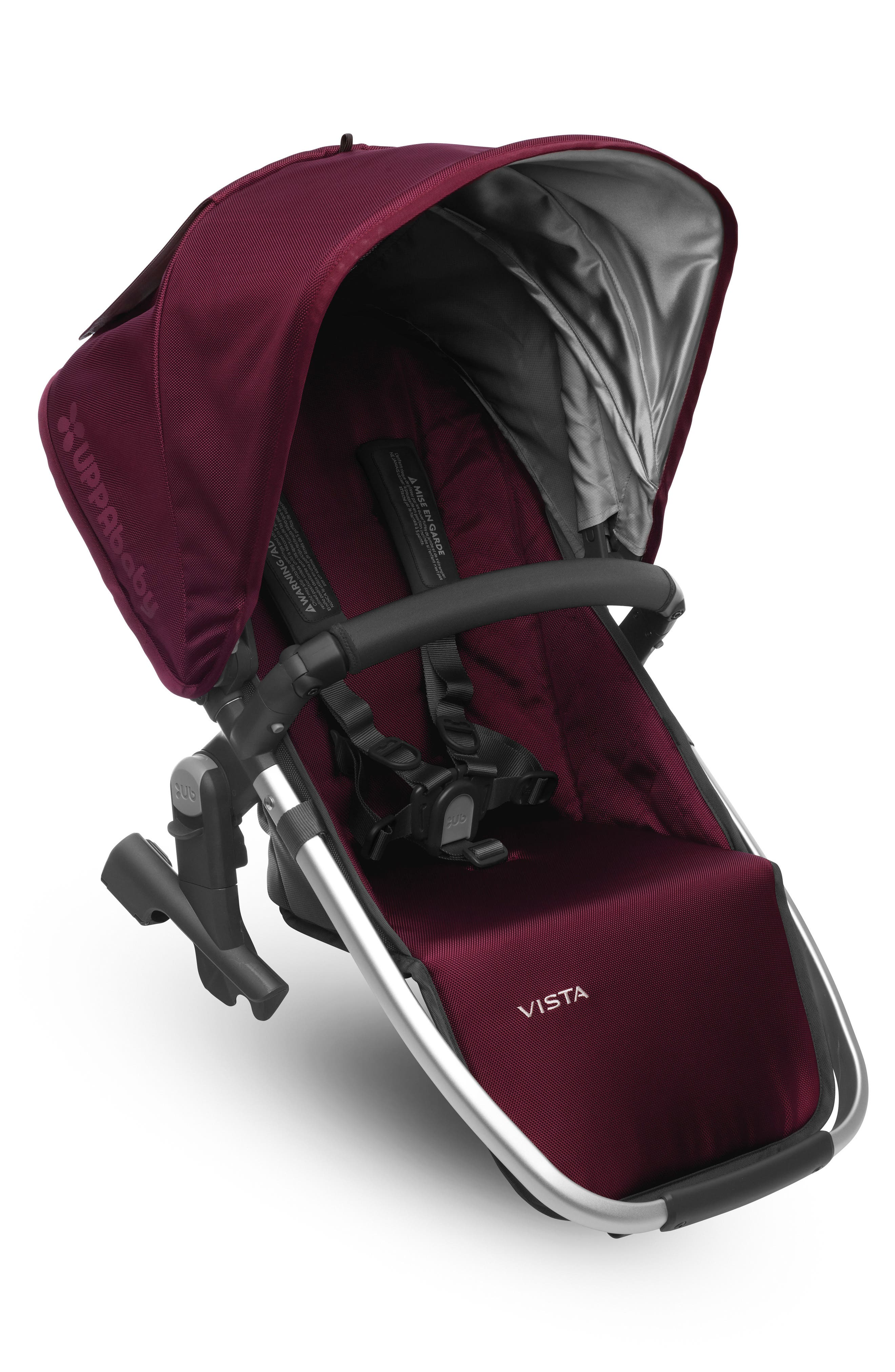 VISTA Stroller Rumble Seat,                         Main,                         color, Bordeaux/ Silver