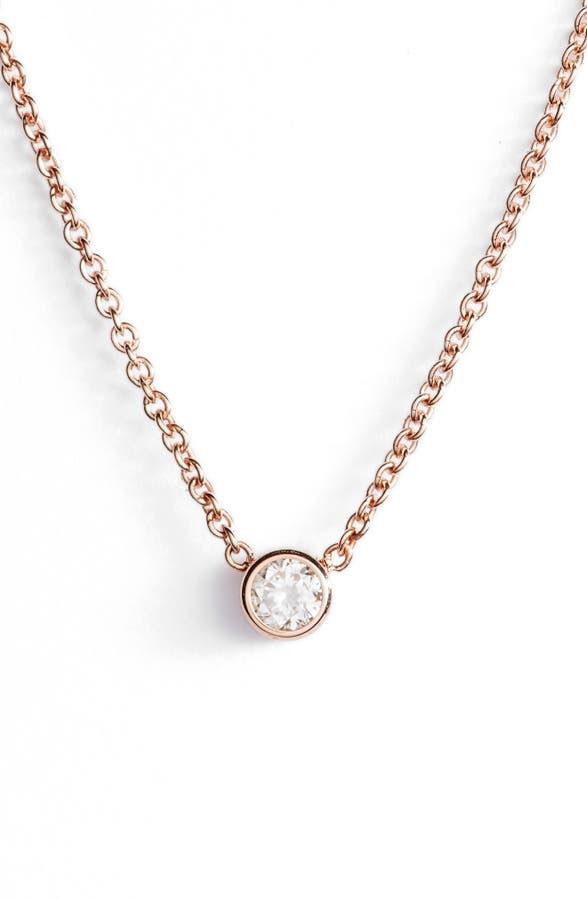 Zo chicco diamond bezel pendant necklace nordstrom main image zo chicco diamond bezel pendant necklace aloadofball Images