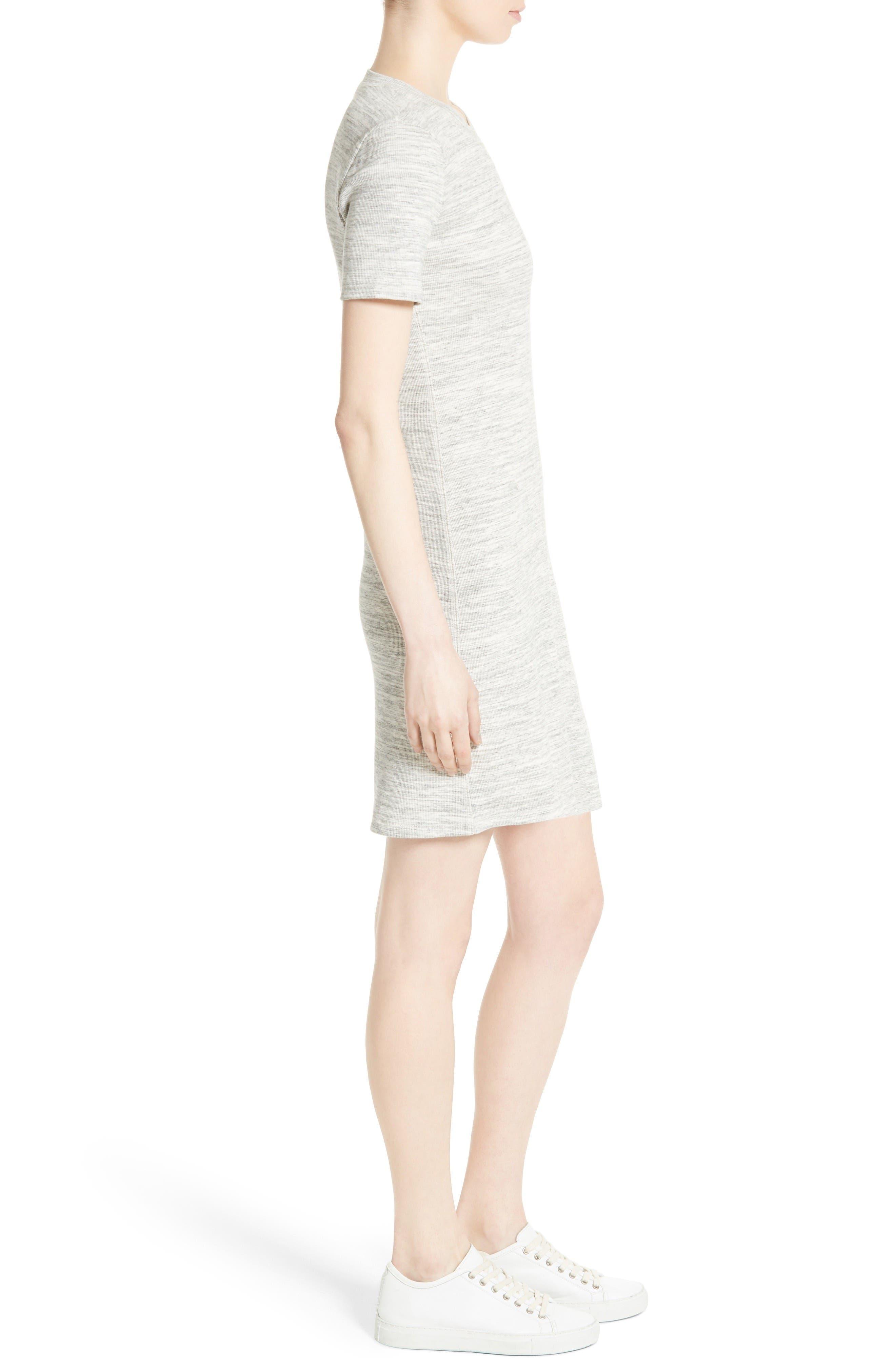 Alternate Image 3  - Theory Cherry B3 Sterling Rib Knit T-Shirt Dress