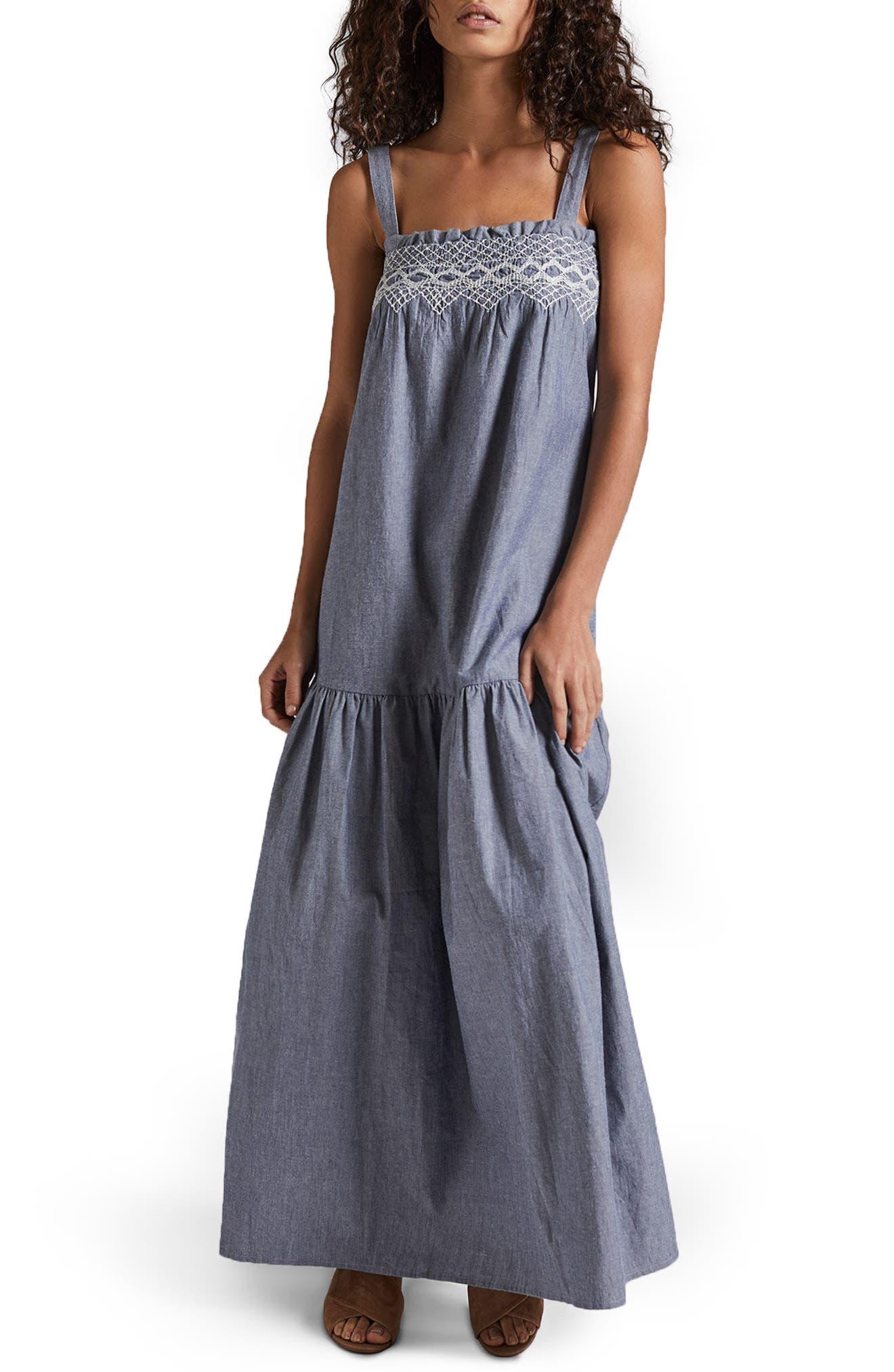 Current/Elliott The Rancher Chambray Maxi Dress