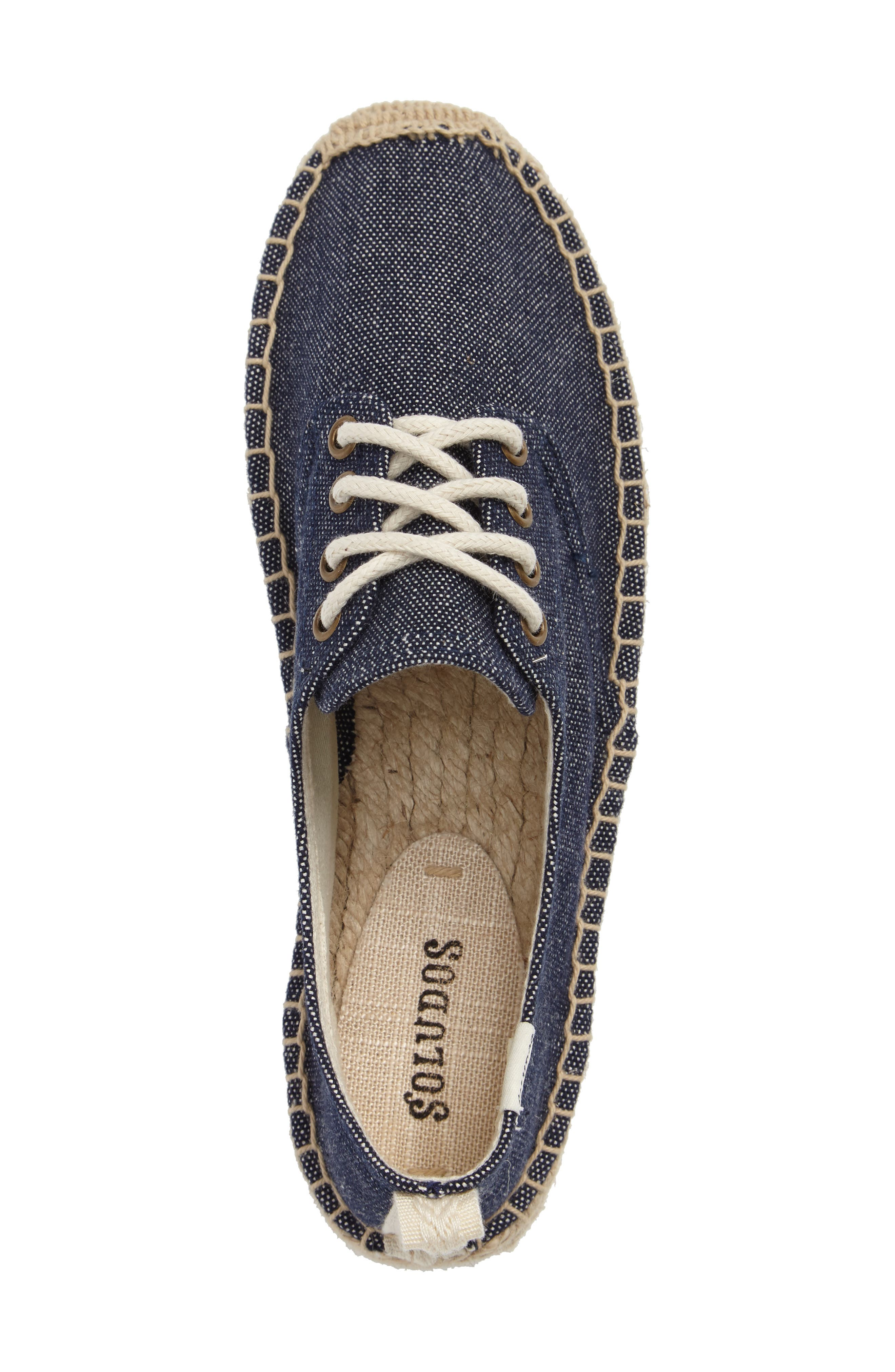 Espadrille Oxford,                             Alternate thumbnail 3, color,                             Navy Canvas