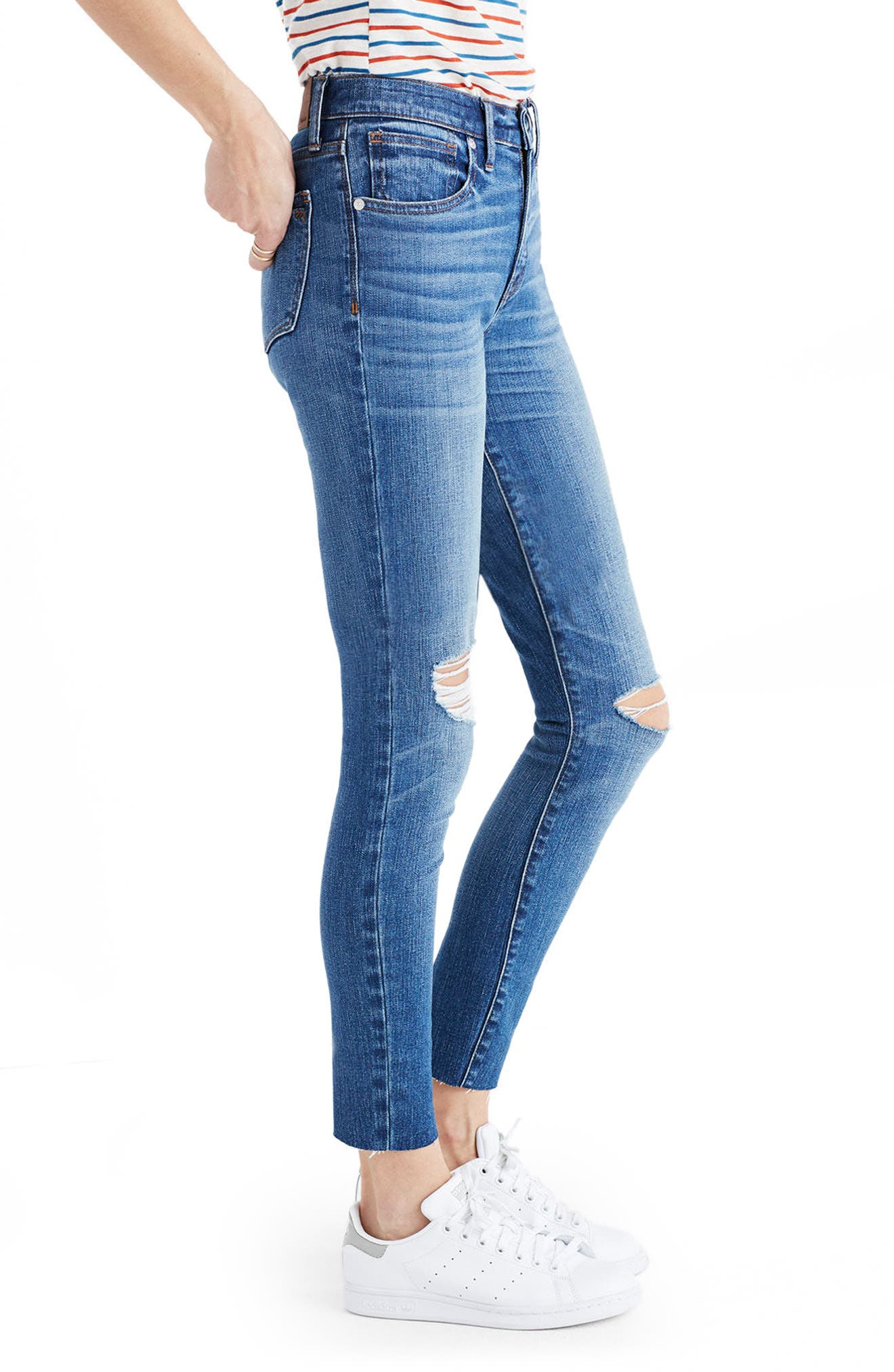 Alternate Image 3  - Madewell 9-Inch High-Rise Skinny Crop Jeans (Bruce Wash)