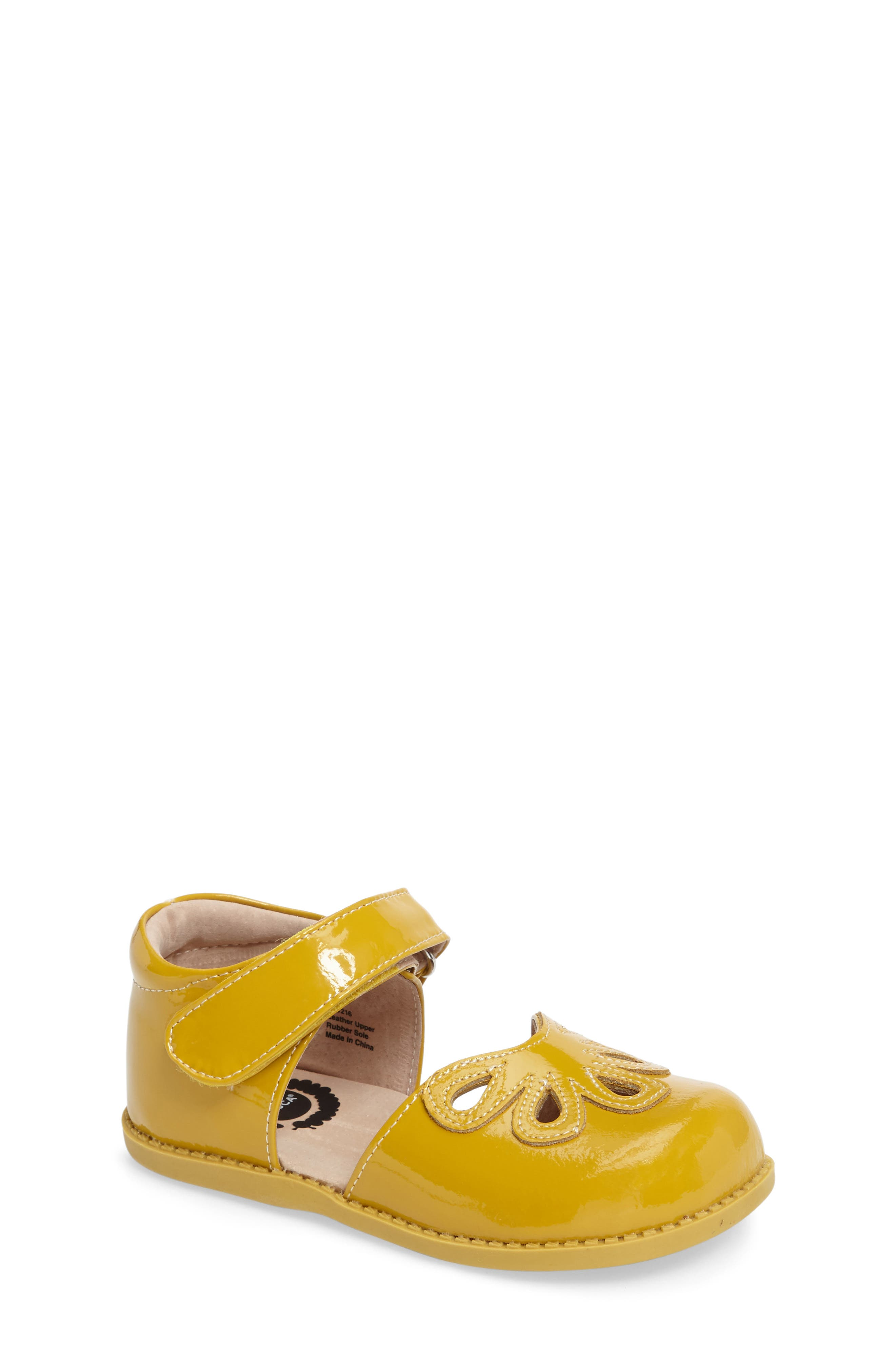 'Petal' Mary Jane,                         Main,                         color, Yellow Leather