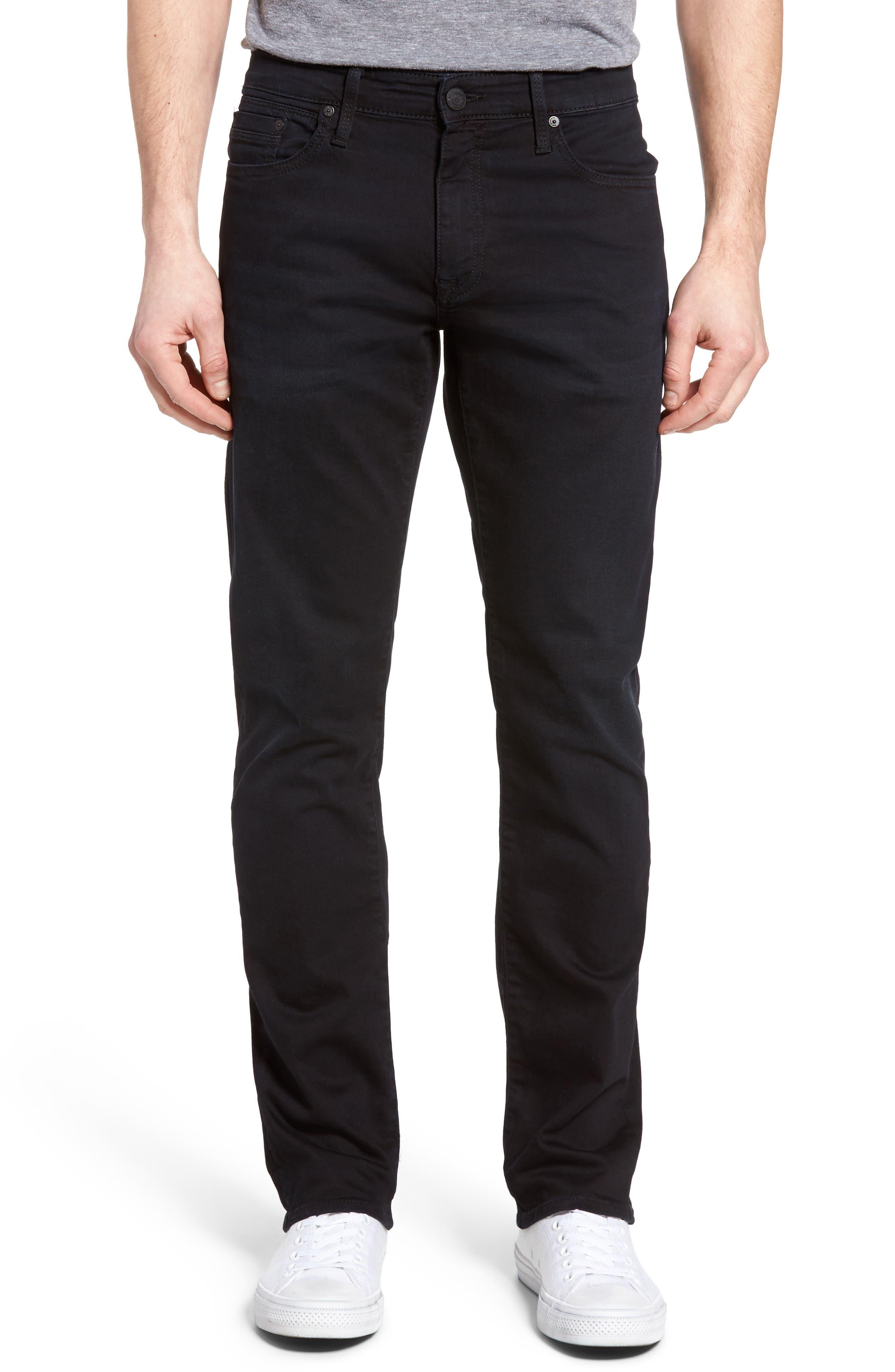 Alternate Image 1 Selected - Mavi Jeans Zach Straight Leg Jeans (E Black Williamsburg)