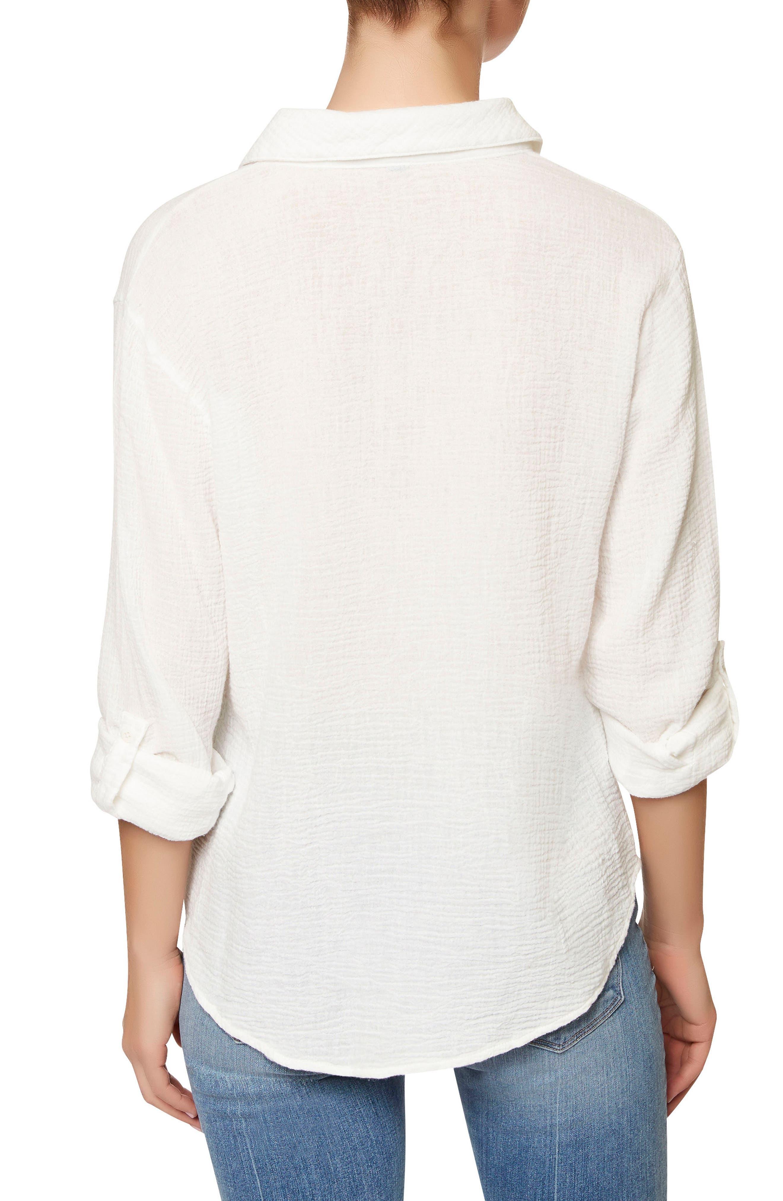 The Steady Boyfriend Shirt,                             Alternate thumbnail 2, color,                             White