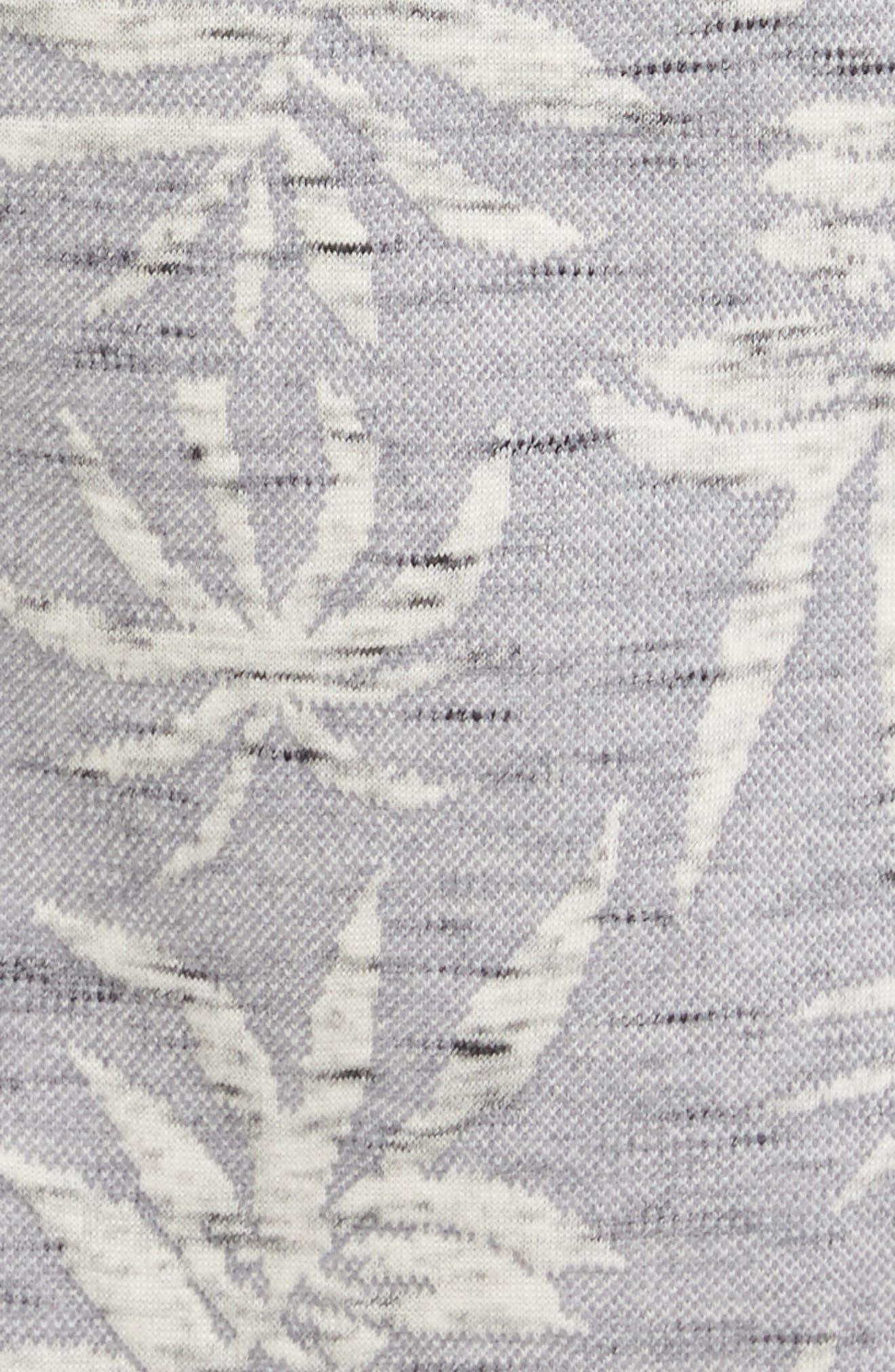 Vintage Tropical Robe,                             Alternate thumbnail 5, color,                             Grey