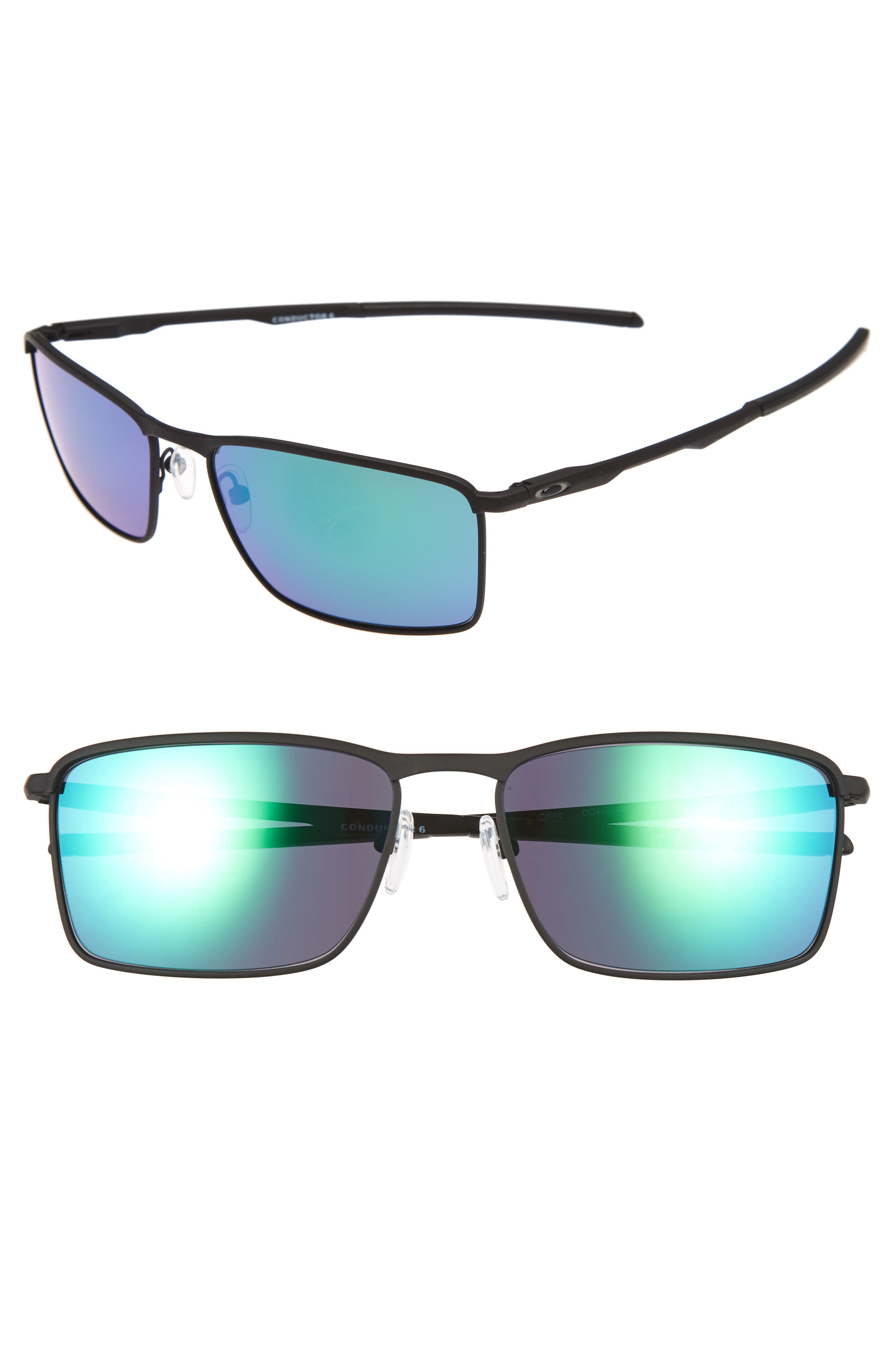 Conductor 6 58mm Polarized Sunglasses,                             Main thumbnail 1, color,                             Black