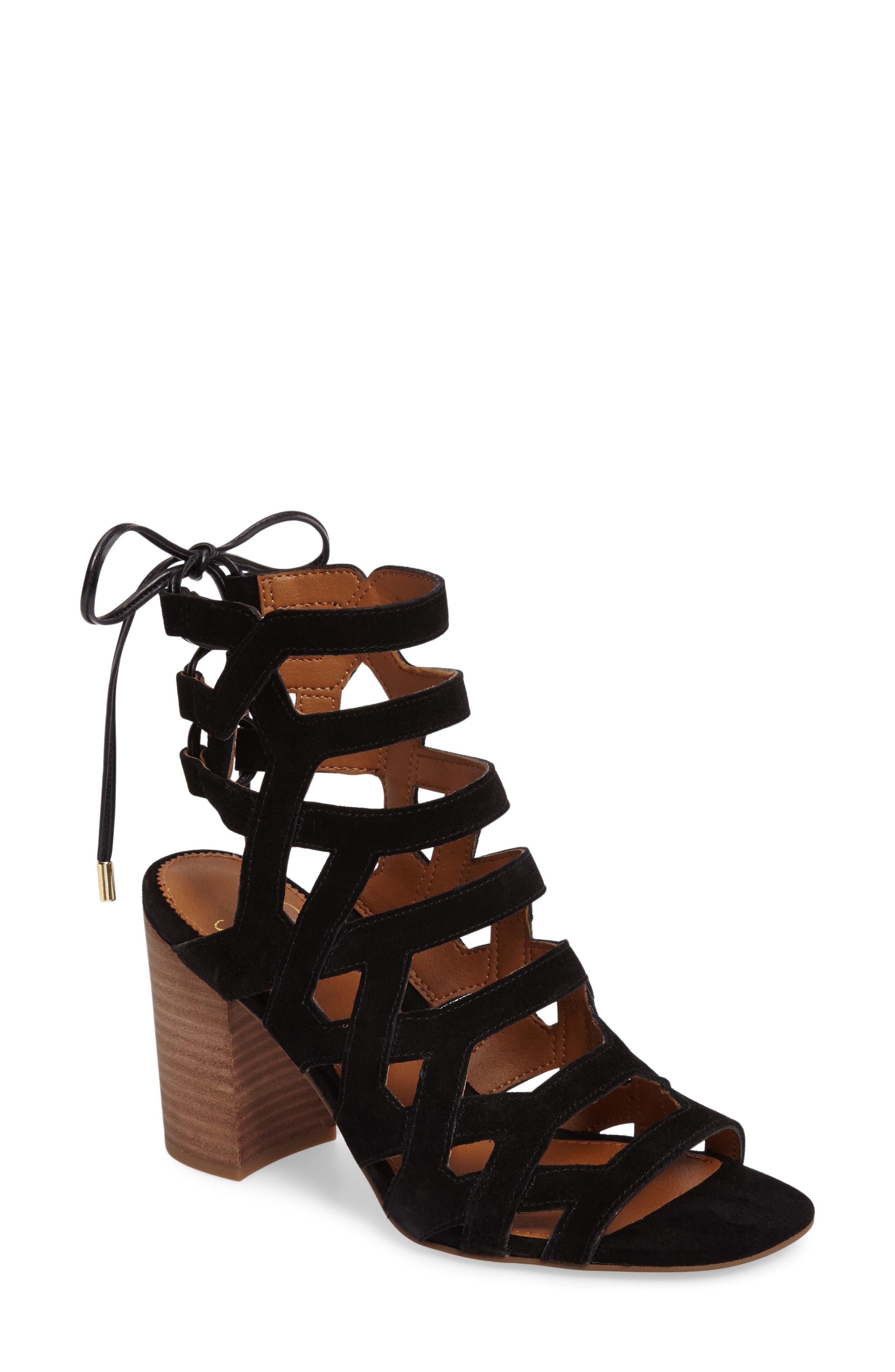 Alternate Image 1 Selected - SARTO by Franco Sarto Connie Block Heel Cage Sandal (Women)