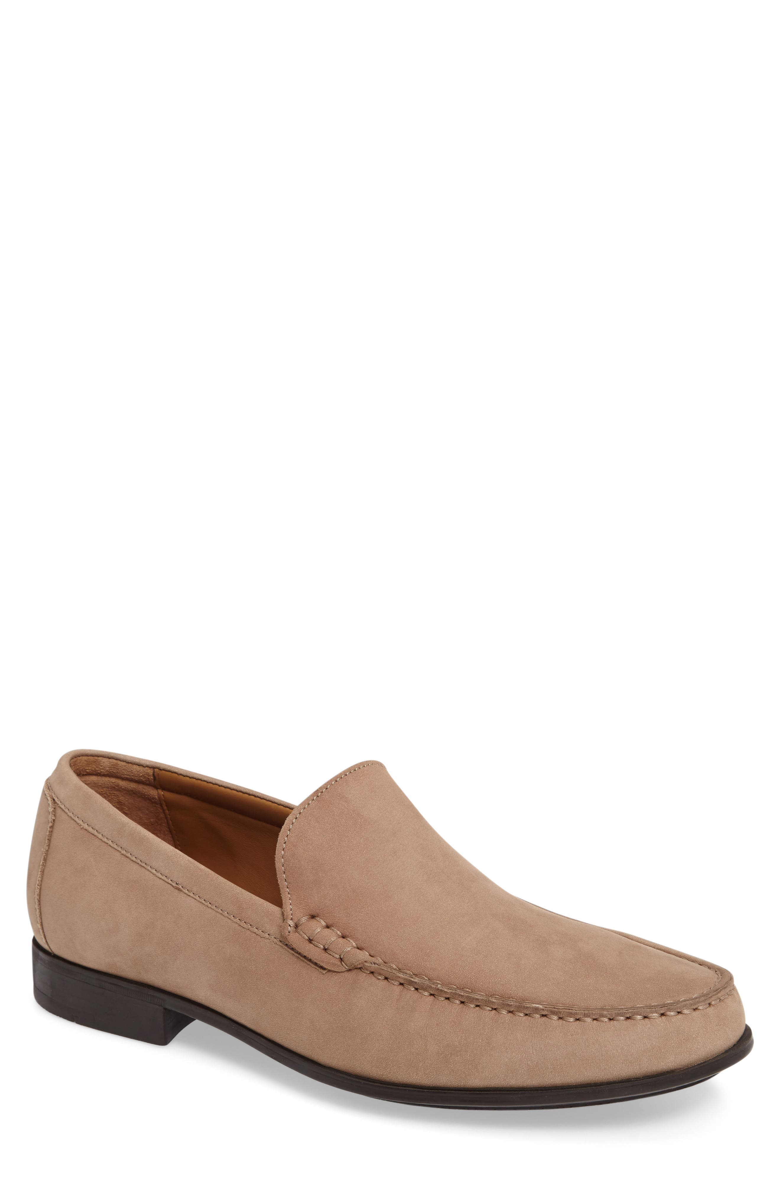 Cresswell Venetian Loafer,                         Main,                         color, Sand Nubuck Leather