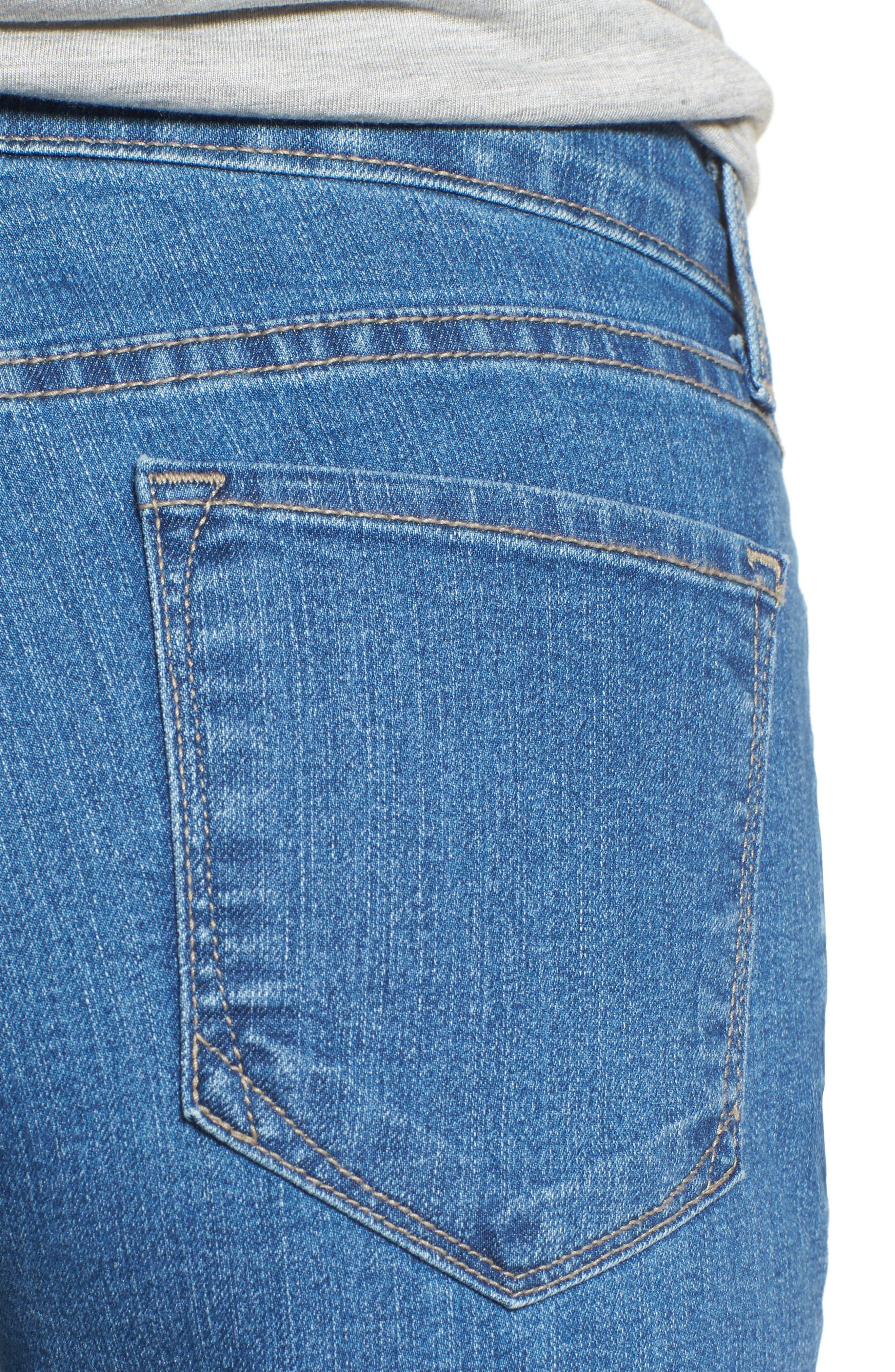 Marilyn Stretch Straight Leg Jeans,                             Alternate thumbnail 4, color,                             Monrovia