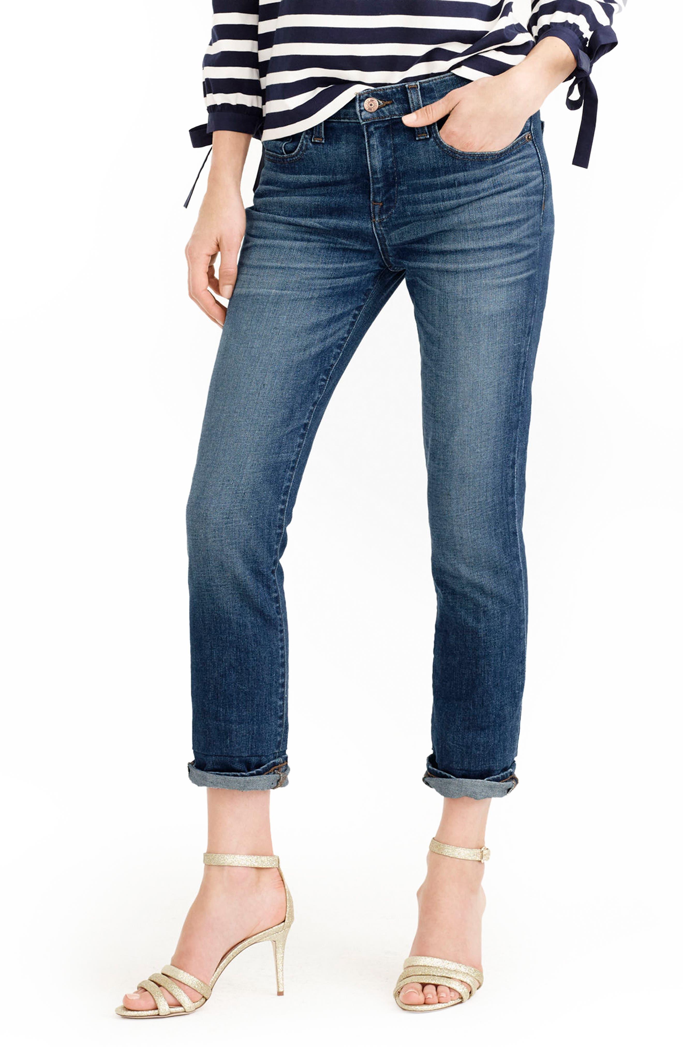 Alternate Image 1 Selected - J.Crew Slim Boyfriend Jeans (Wakefield) (Regular & Petite)