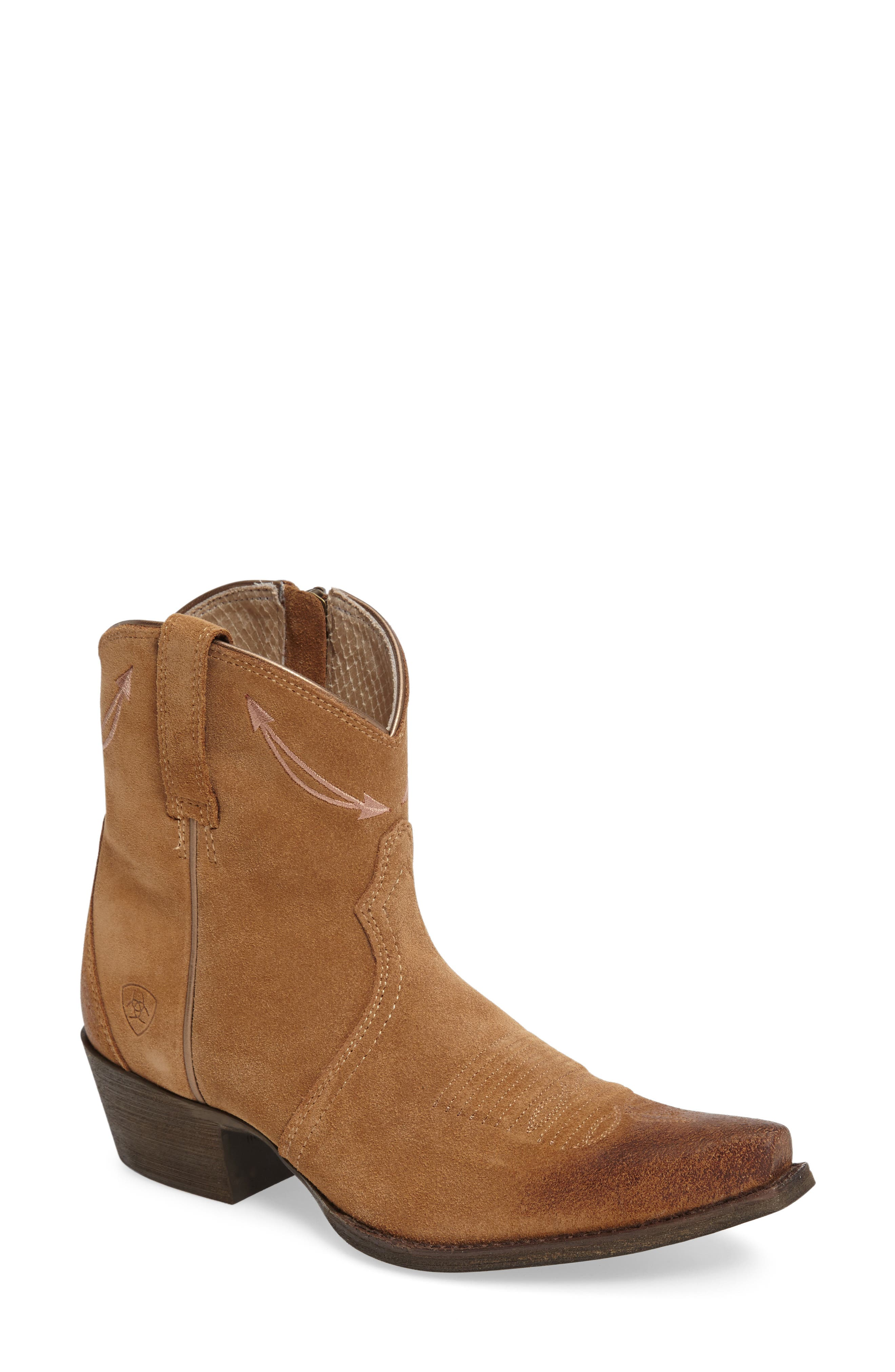 Marilyn Western Boot,                         Main,                         color, Driftwood Leather