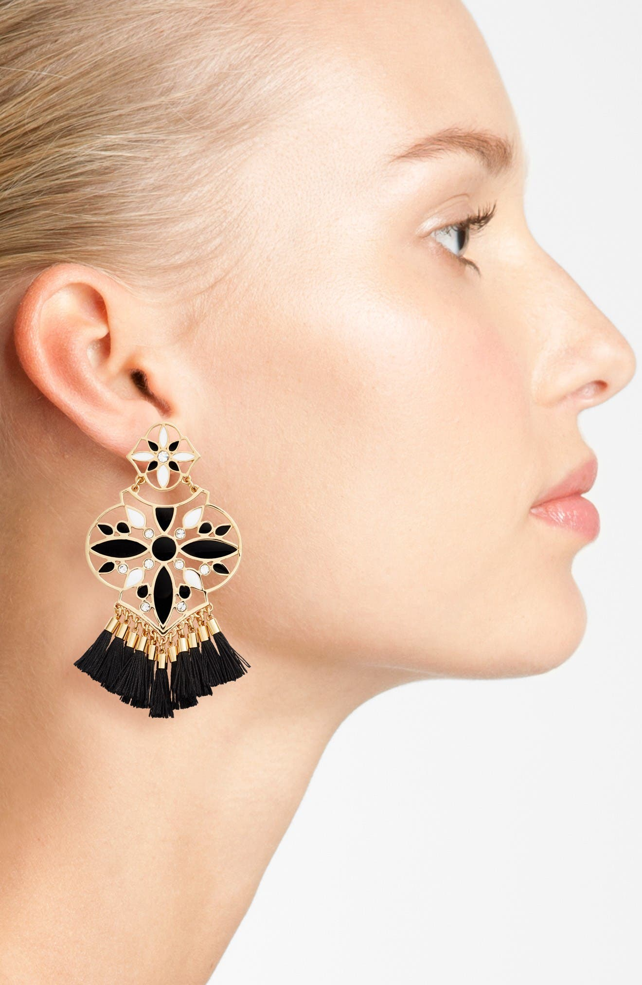 Alternate Image 2  - kate spade new york moroccan tile chandelier earrings