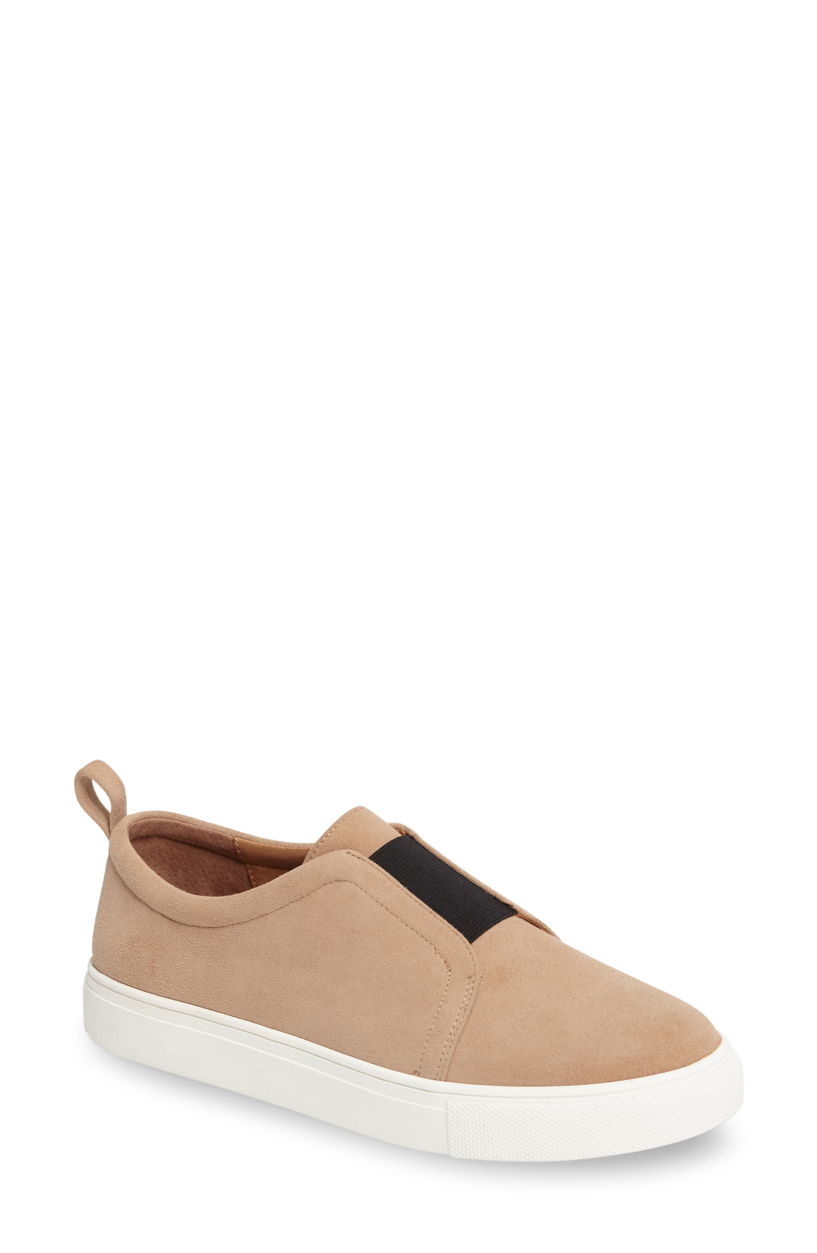Kyle Slip-On Sneaker,                         Main,                         color, Caramel Suede