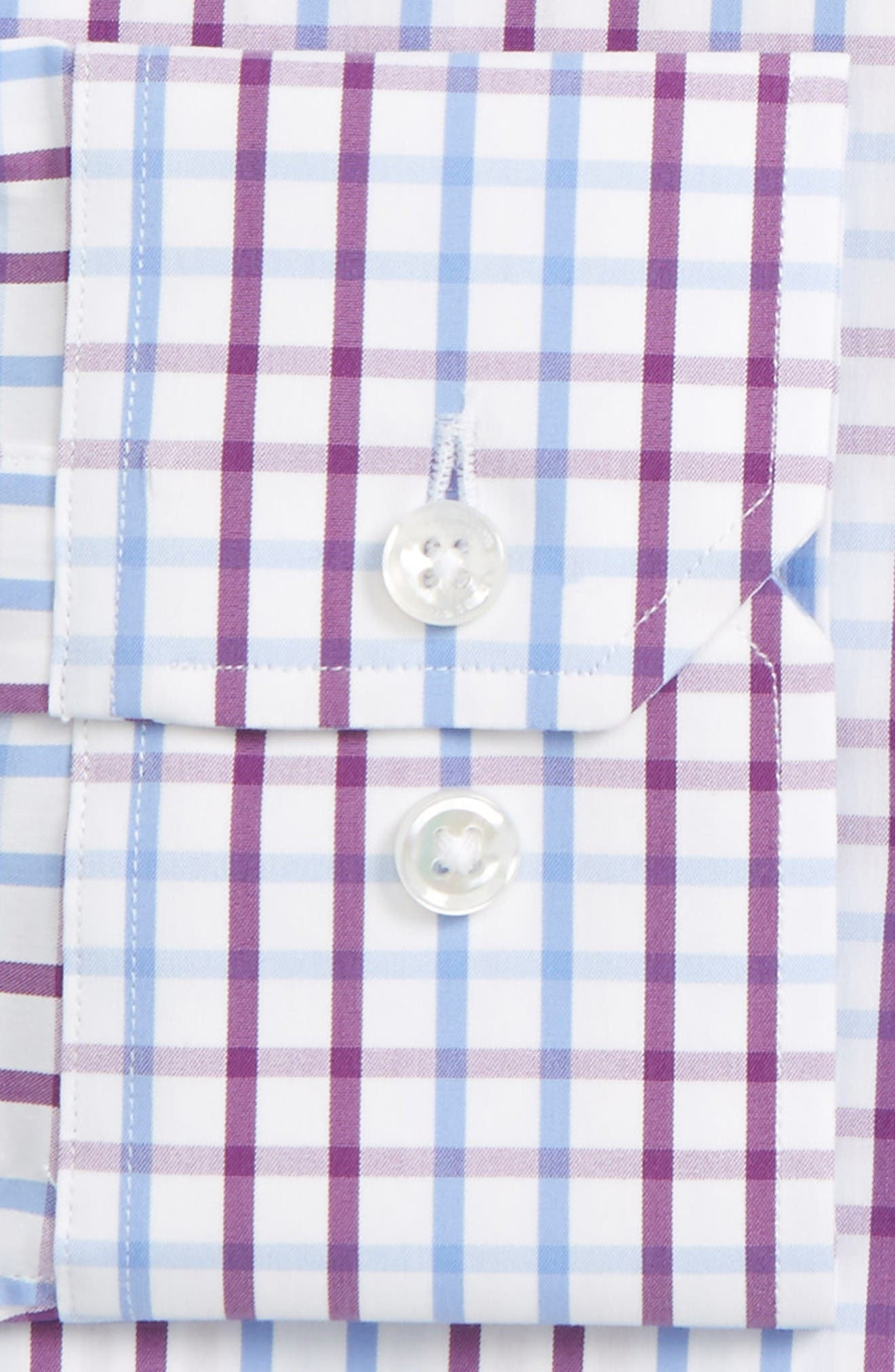 Jetsetter Slim Fit Check Dress Shirt,                             Alternate thumbnail 2, color,                             Purple Palmer