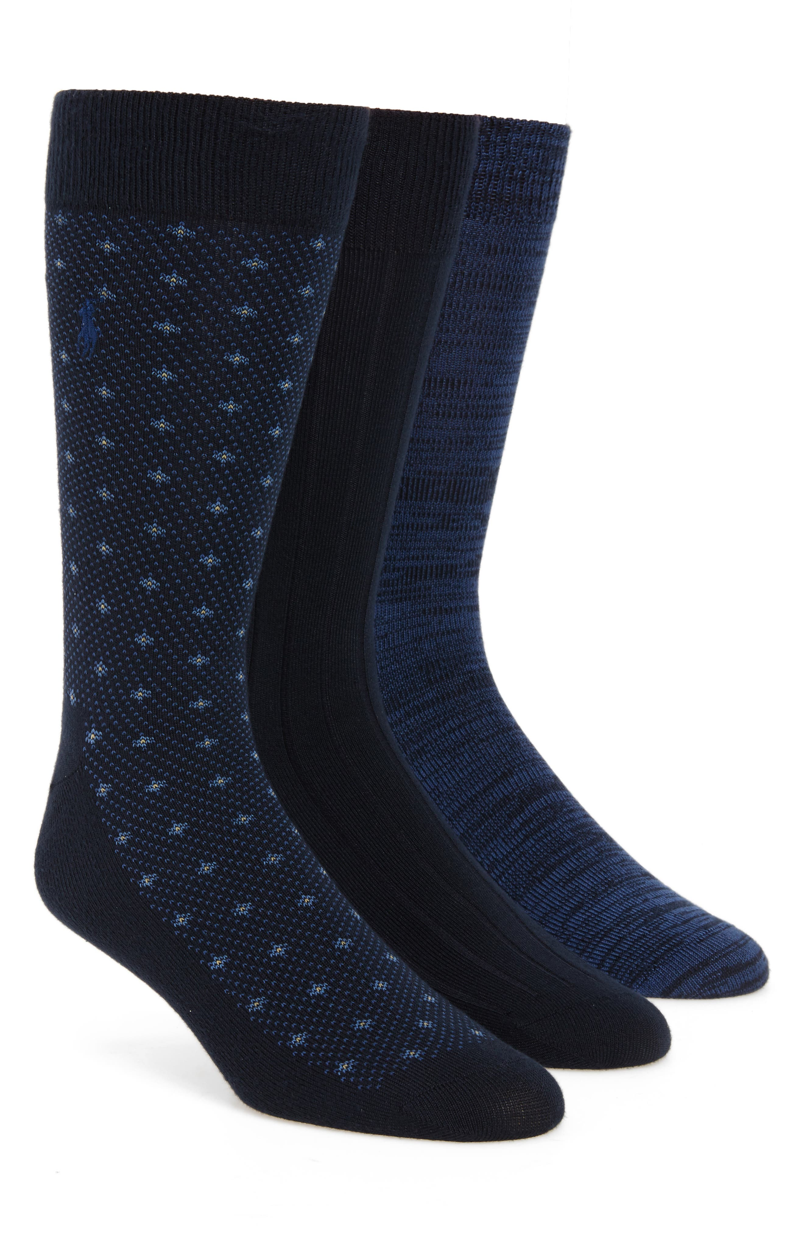 Polo Ralph Lauren Supersoft Diamond Dot Assorted 3-Pack Socks