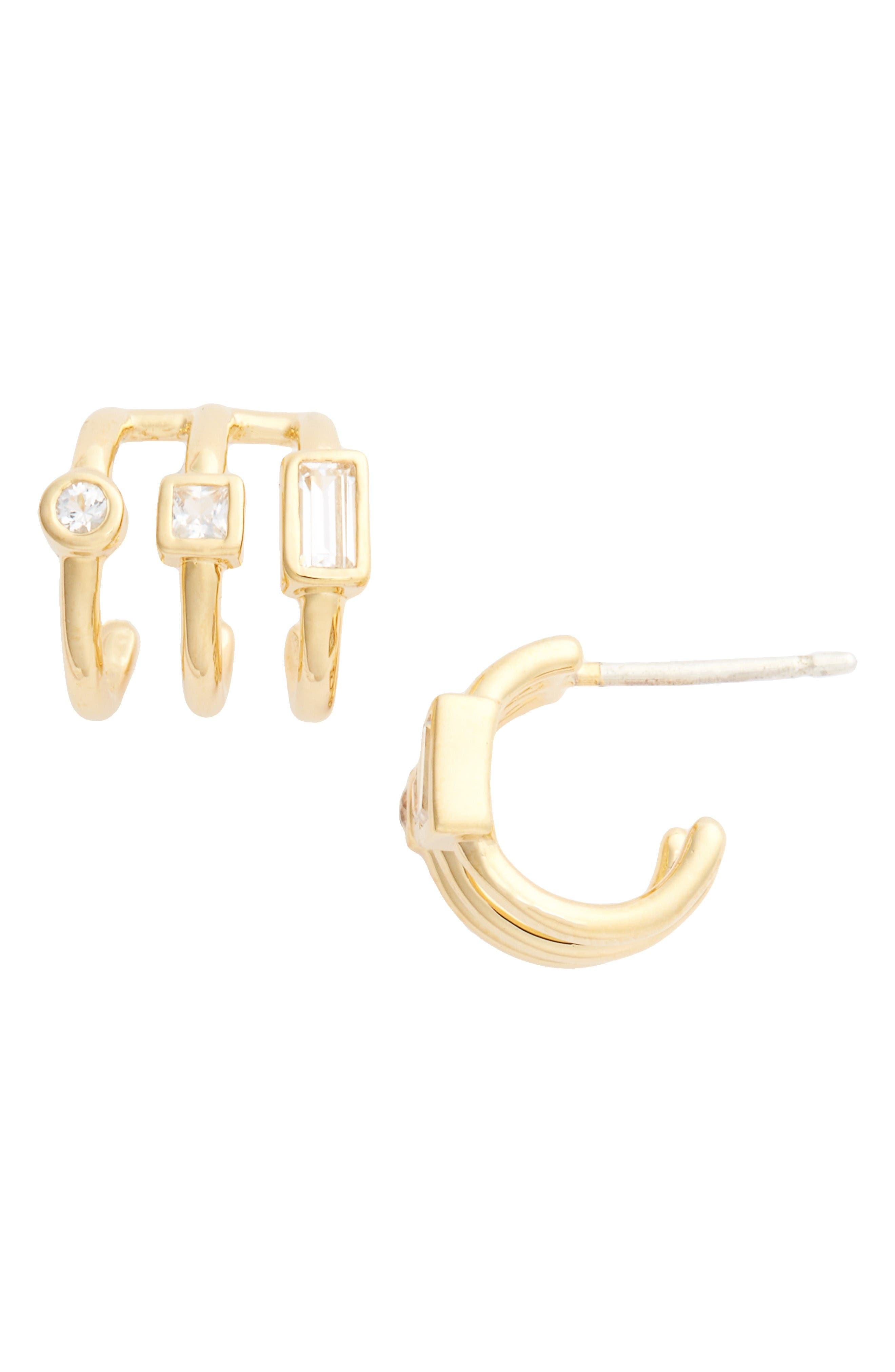 Elizabeth & James Roni Hoop Earrings in Metallic Silver 3w9bEfO