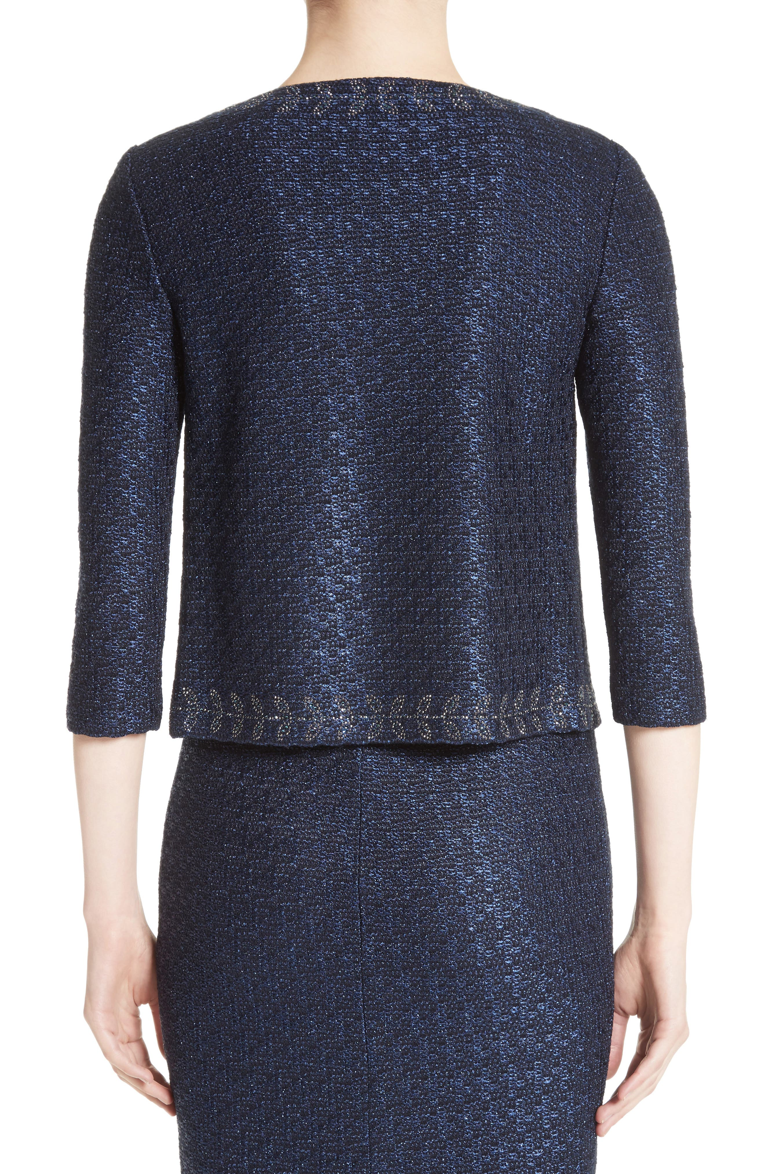 Alternate Image 2  - St. John Collection Jiya Sparkle Knit Jacket