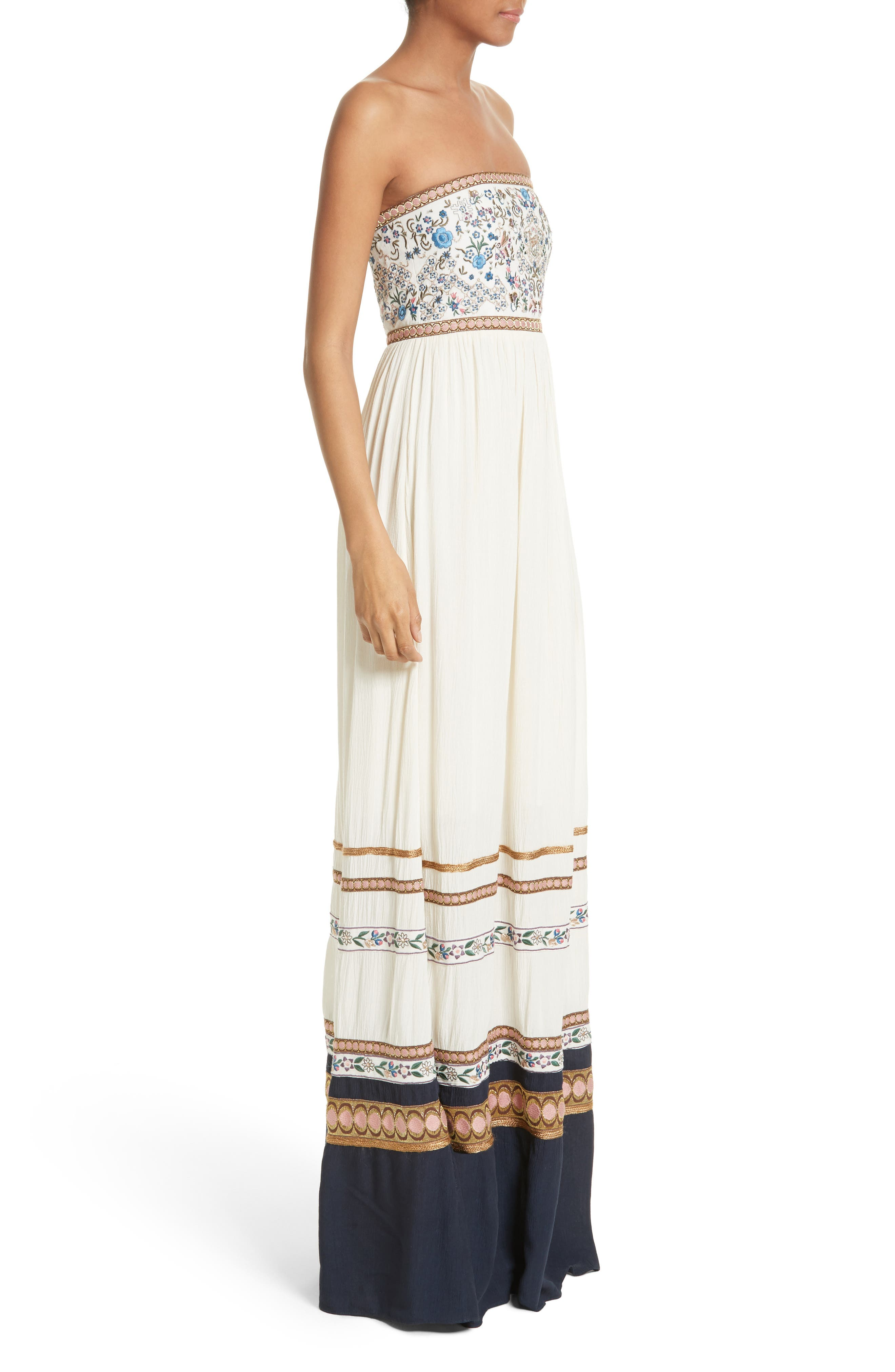 Alternate Image 3  - Alice + Olivia Quyen Embroidered Maxi Dress