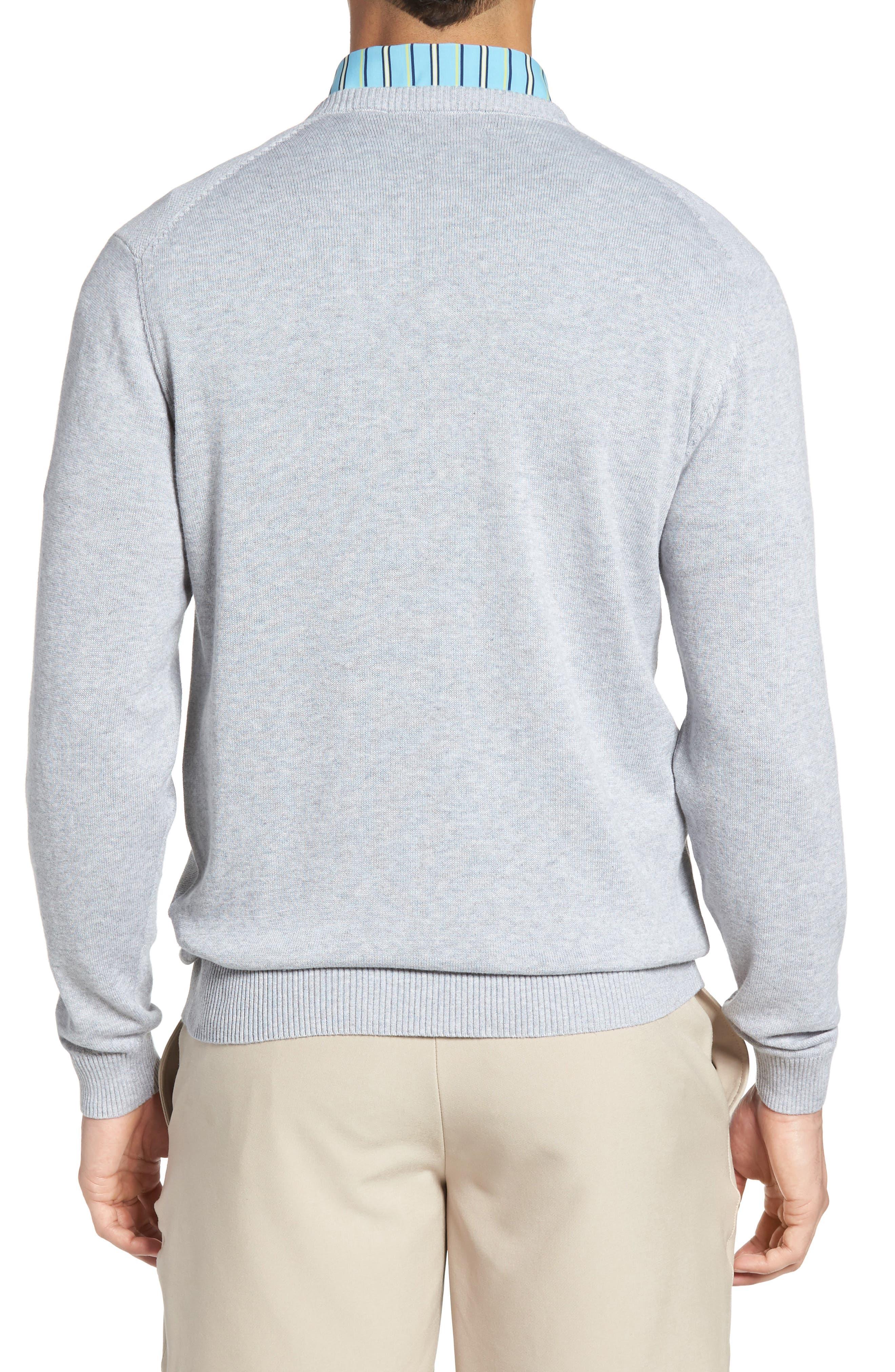 Alternate Image 2  - Bobby Jones Piqué Jersey V-Neck Sweater