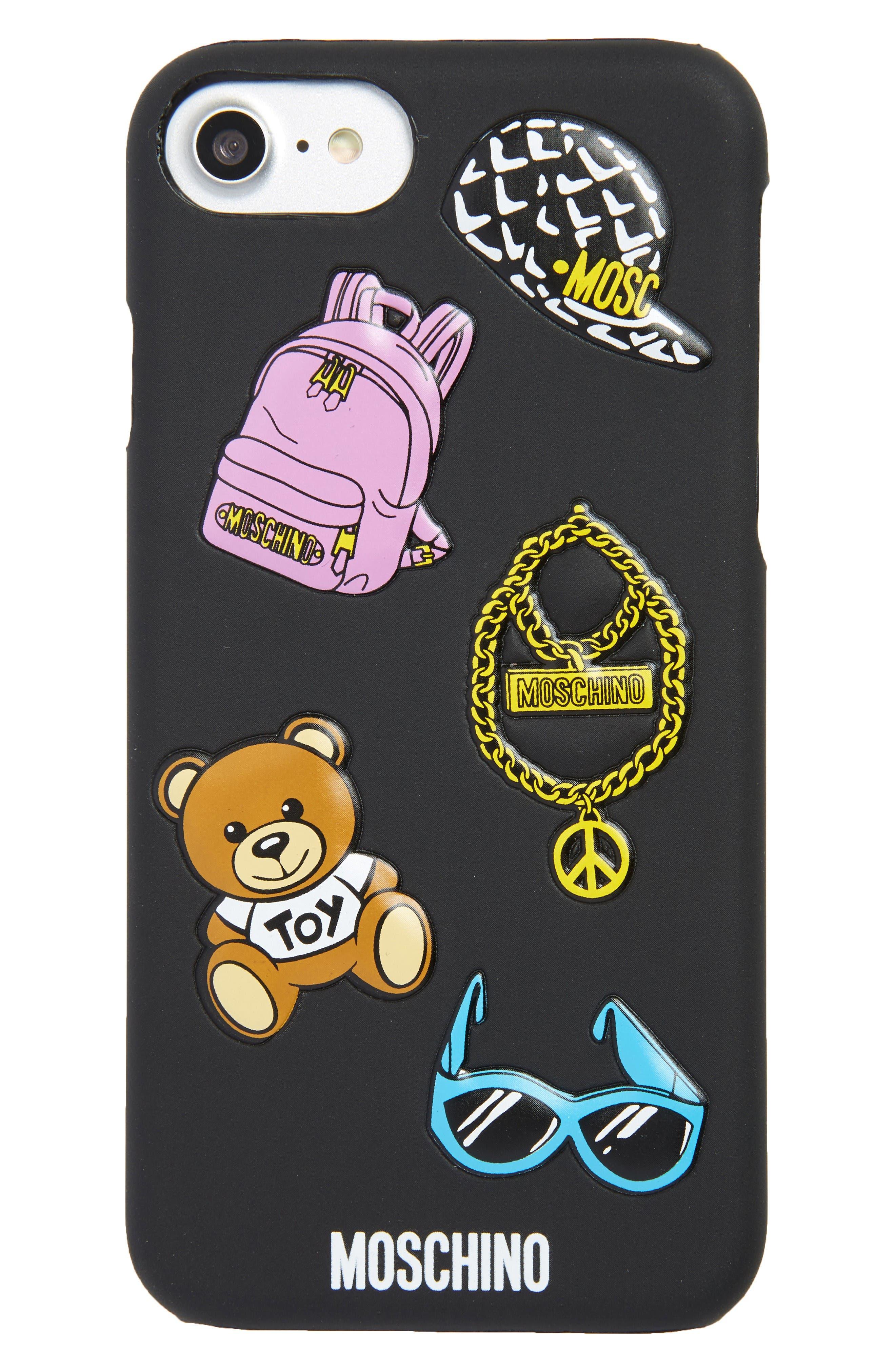 Icon Charm iPhone 6/7 Case,                         Main,                         color, Black Multi