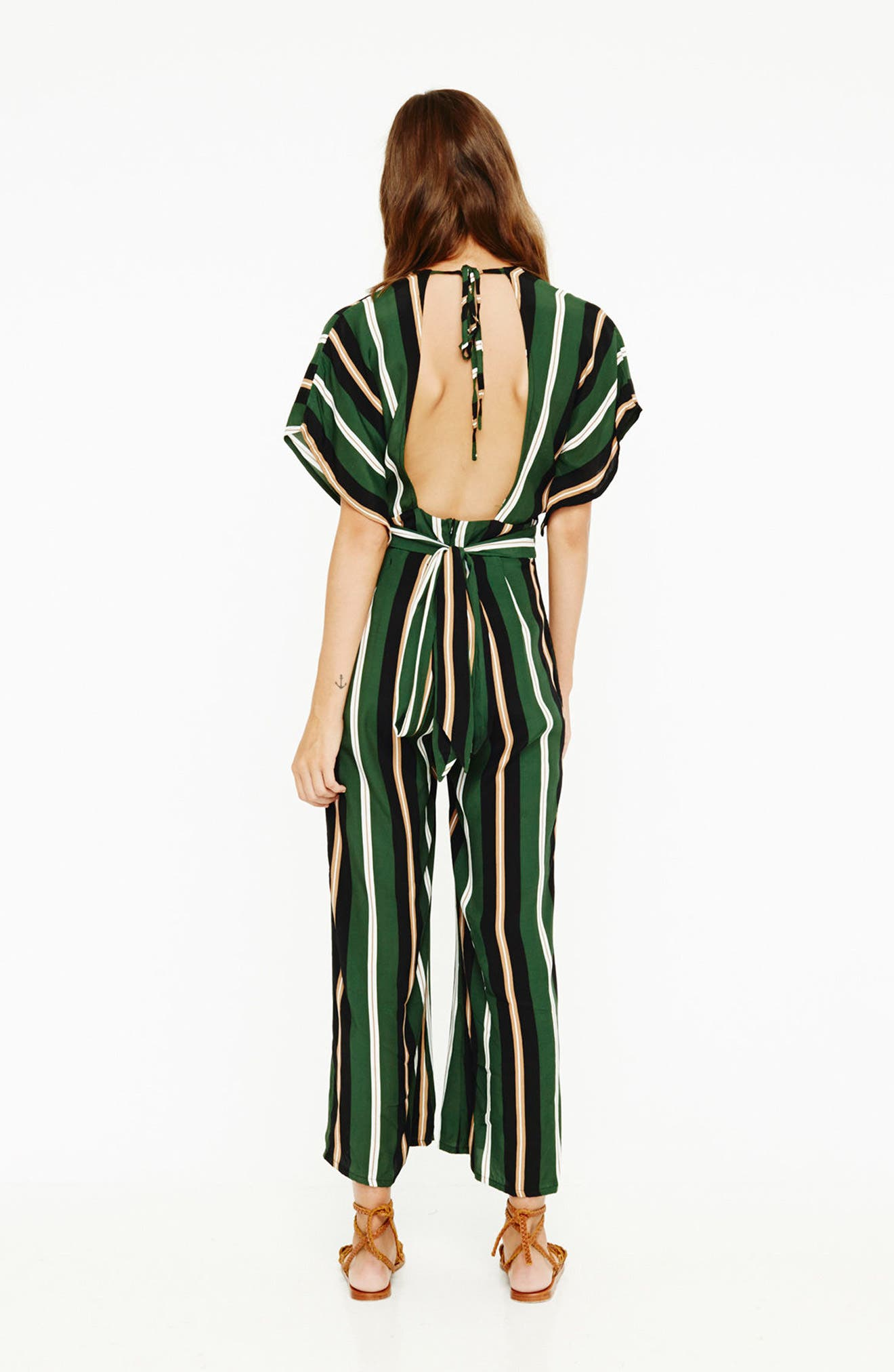 Cedric Jumpsuit,                             Alternate thumbnail 7, color,                             Firenze Stripes Green/Blk