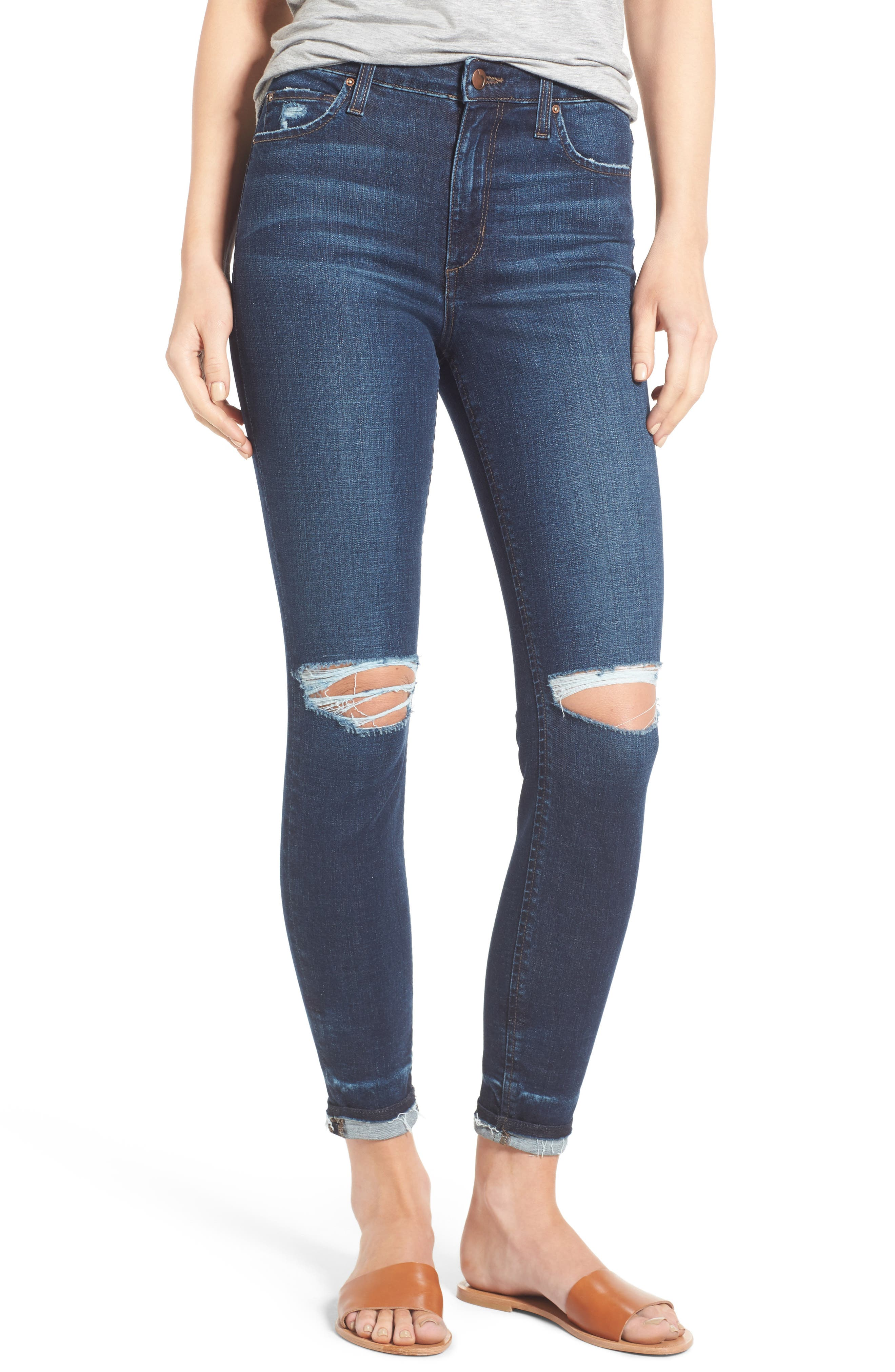Flawless - Charlie Markie High Rise Crop Skinny Jeans,                             Main thumbnail 1, color,                             Kennide