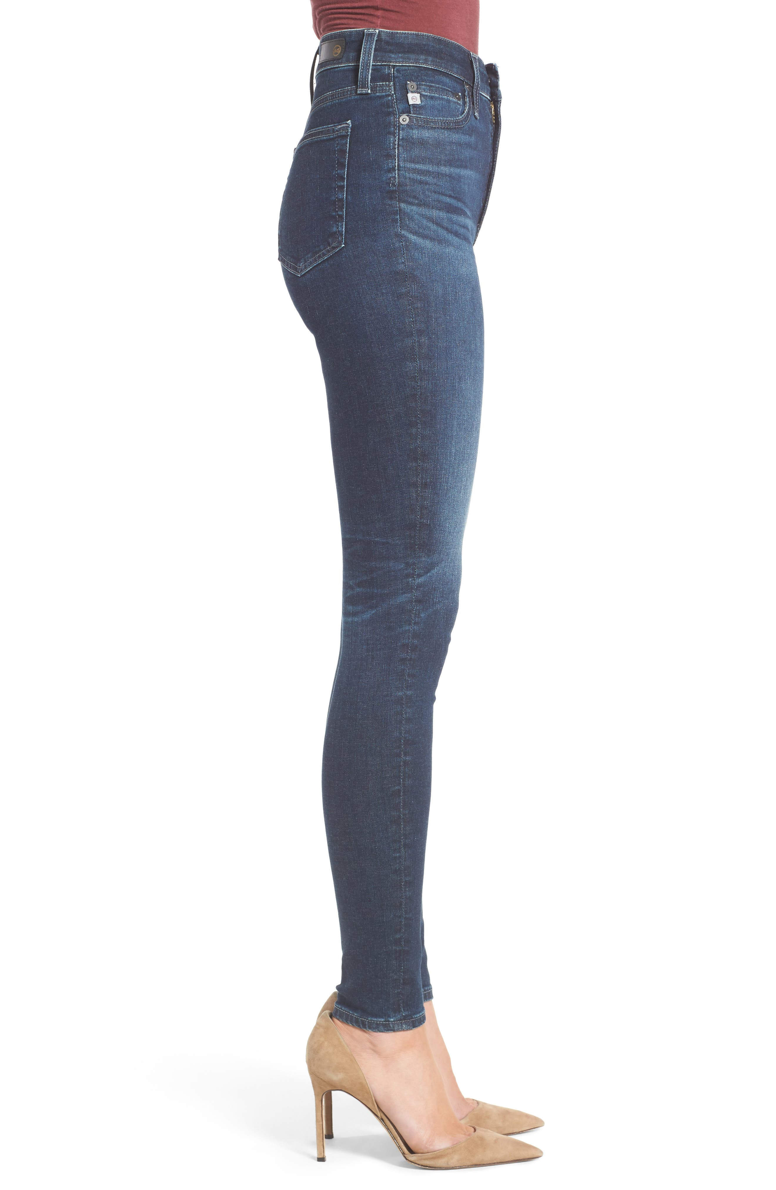 Mila High Rise Skinny Jeans,                             Alternate thumbnail 4, color,                             03Y Rendezvous