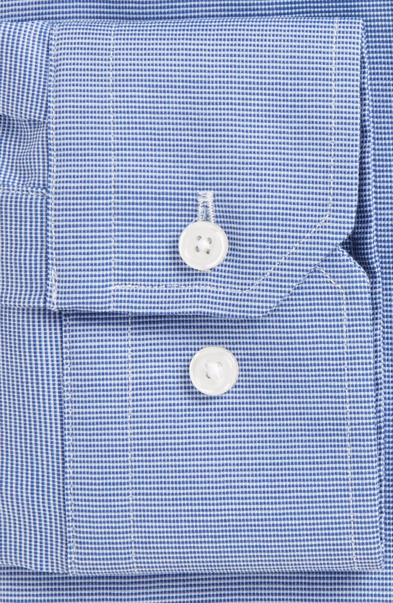 Trim Fit Non-Iron Dress Shirt,                             Alternate thumbnail 3, color,                             Blue Sodalite