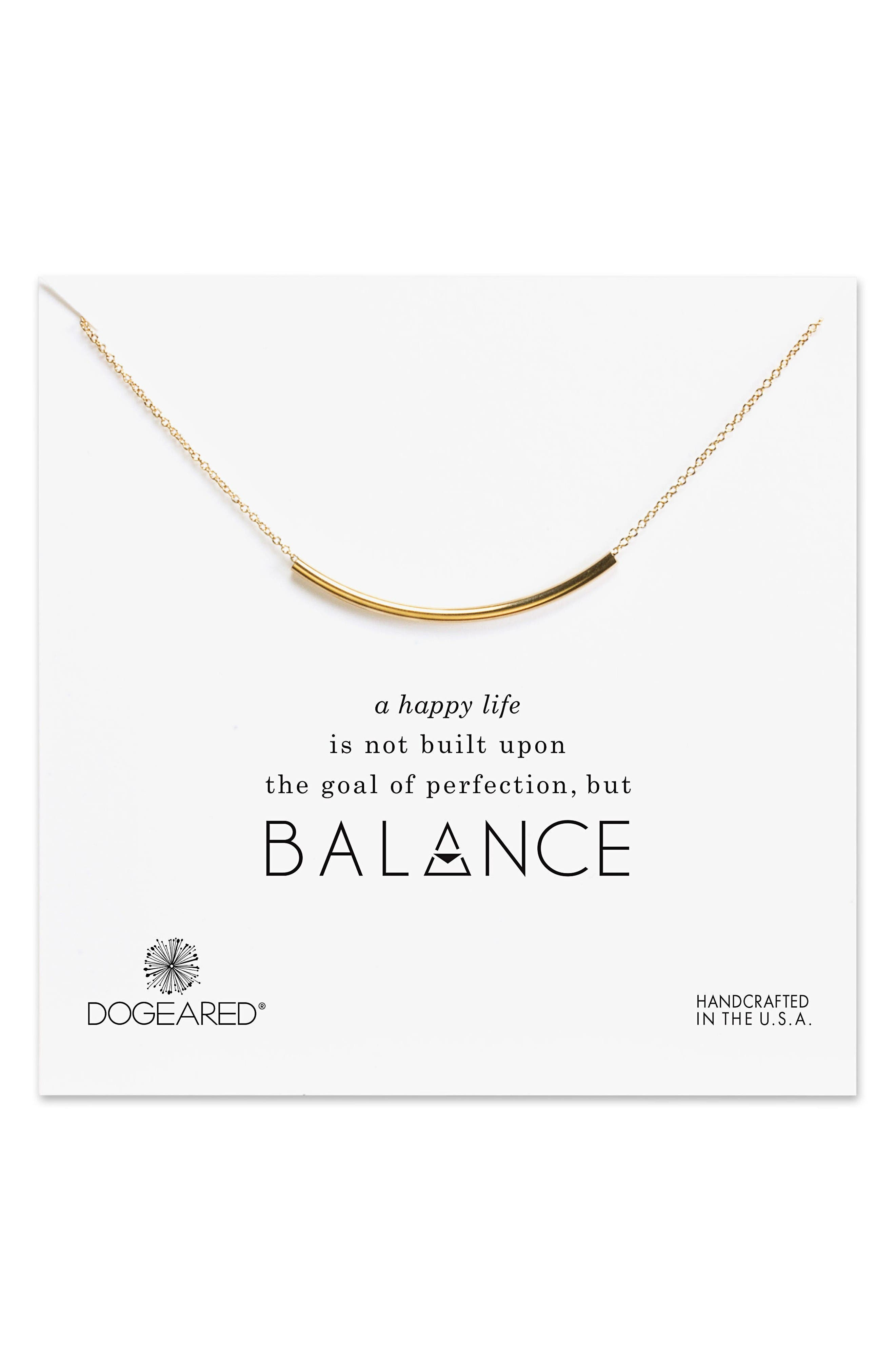 Balance Tube Chain Necklace,                         Main,                         color, Gold