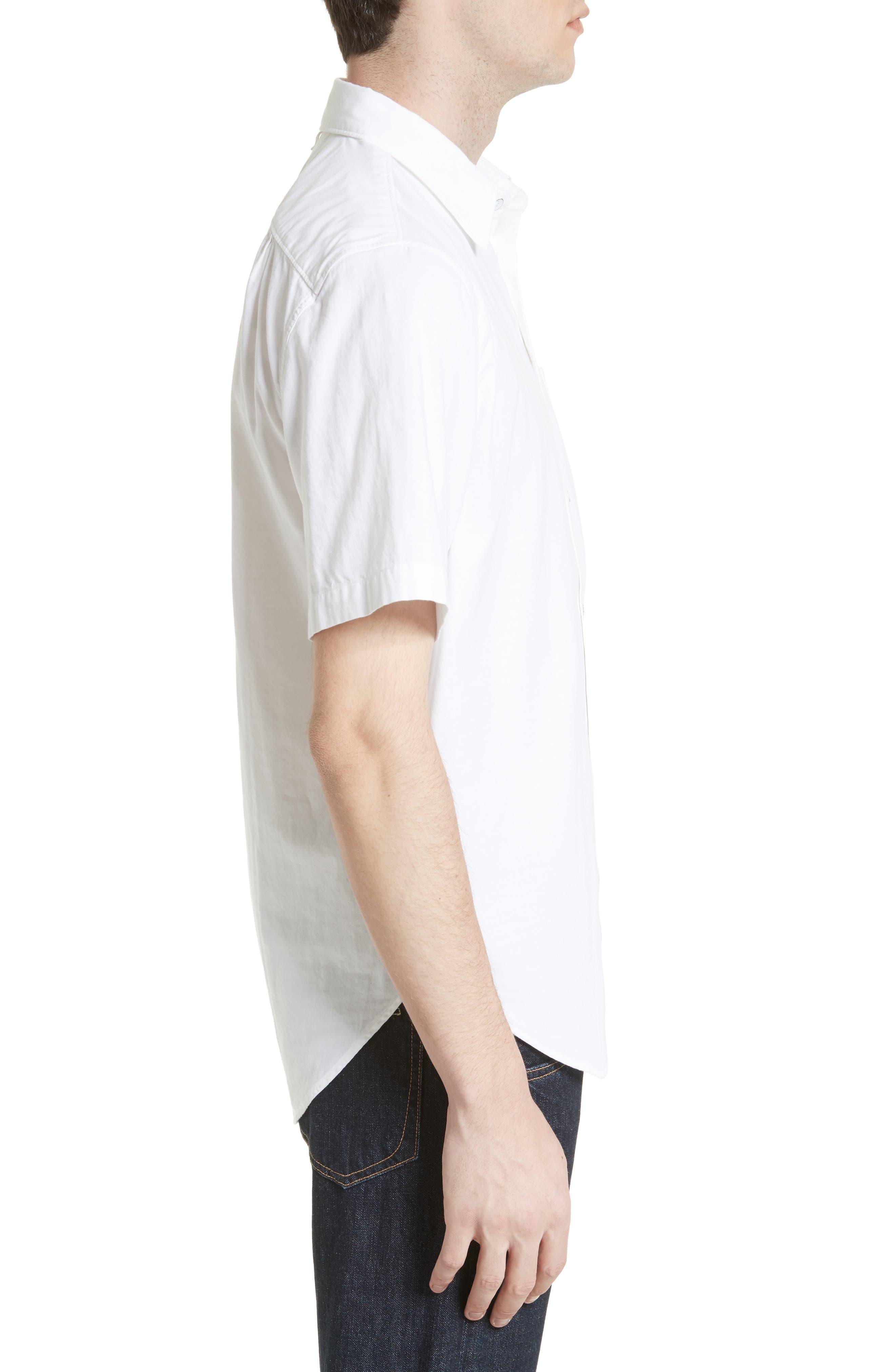 Standard Issue Beach Trim Fit Sport Shirt,                             Alternate thumbnail 4, color,                             White
