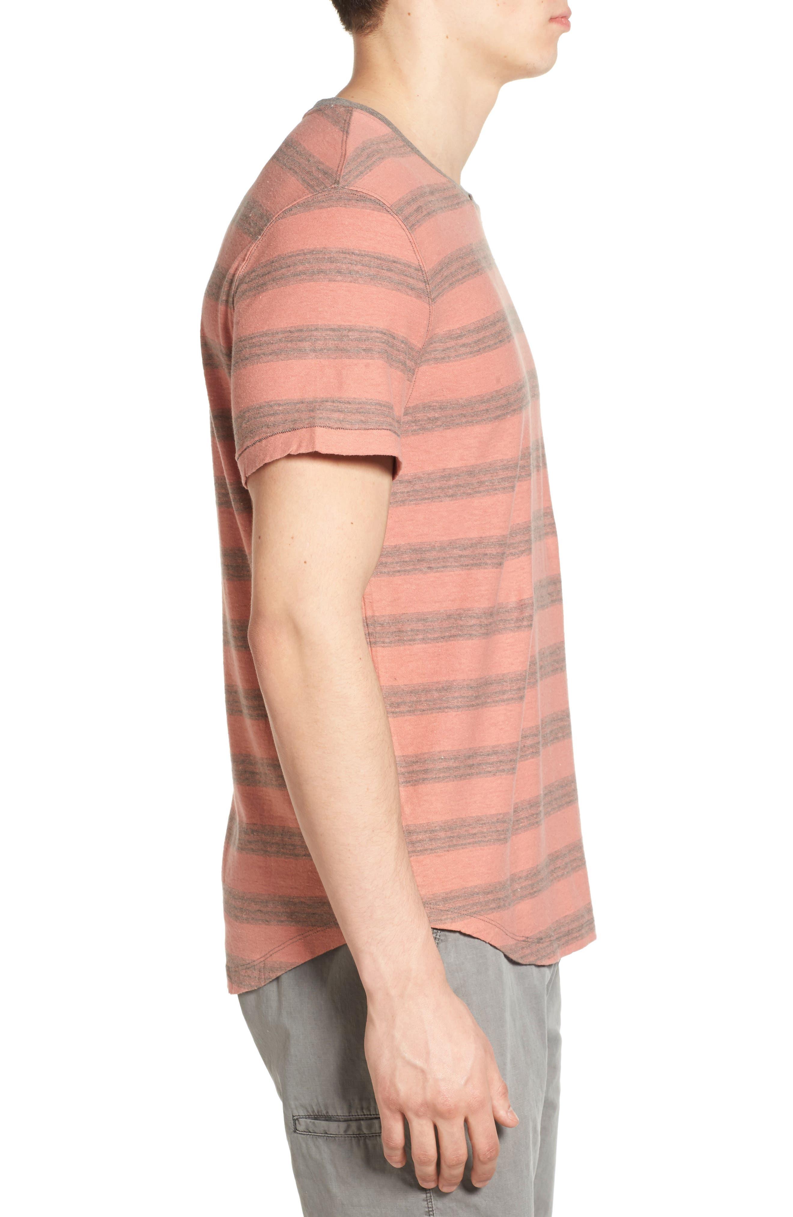 Alternate Image 3  - Jeremiah Ventura Stripe Linen & Cotton T-Shirt