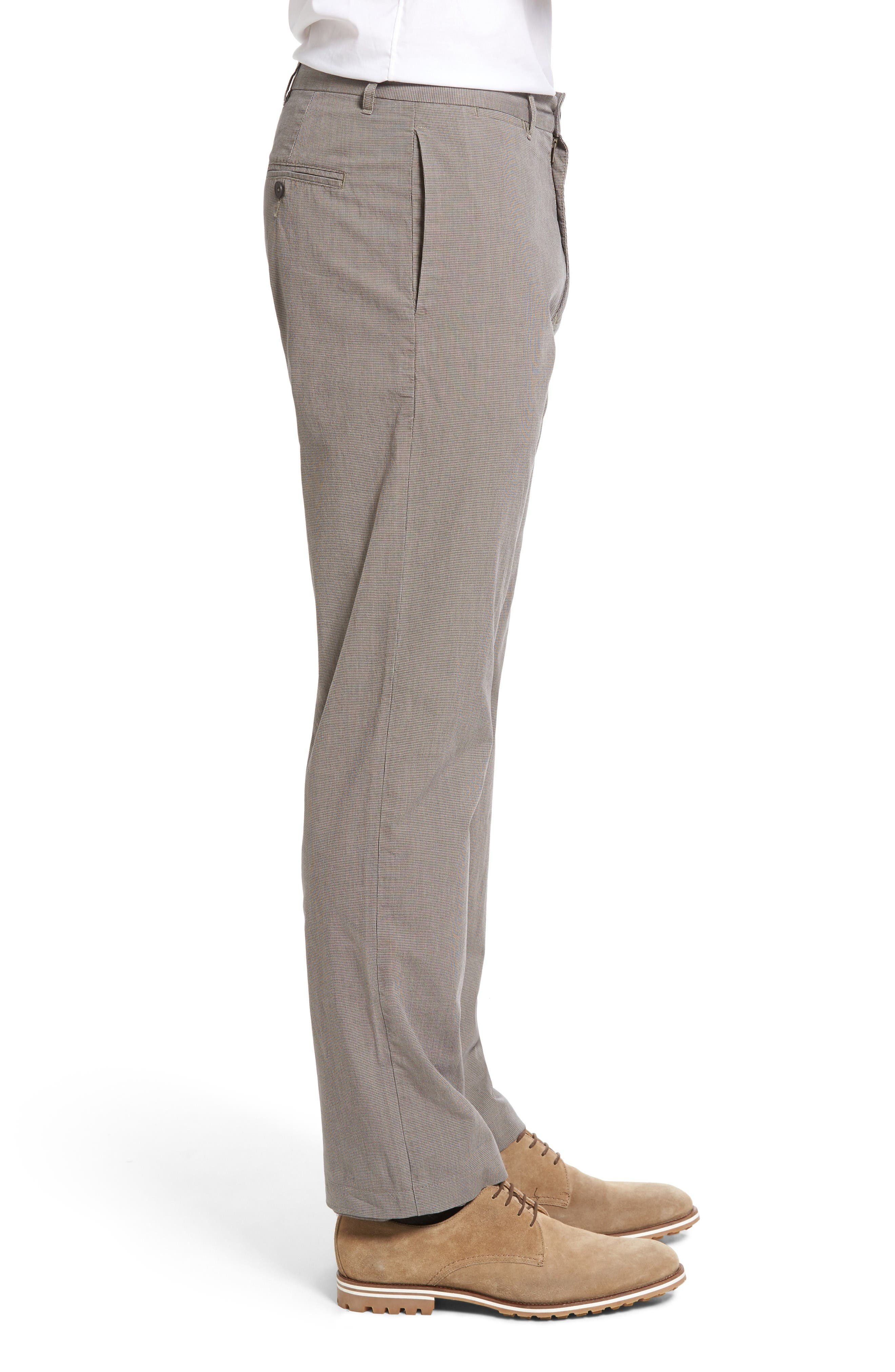 Woodward Regular Fit Trousers,                             Alternate thumbnail 3, color,                             Natural