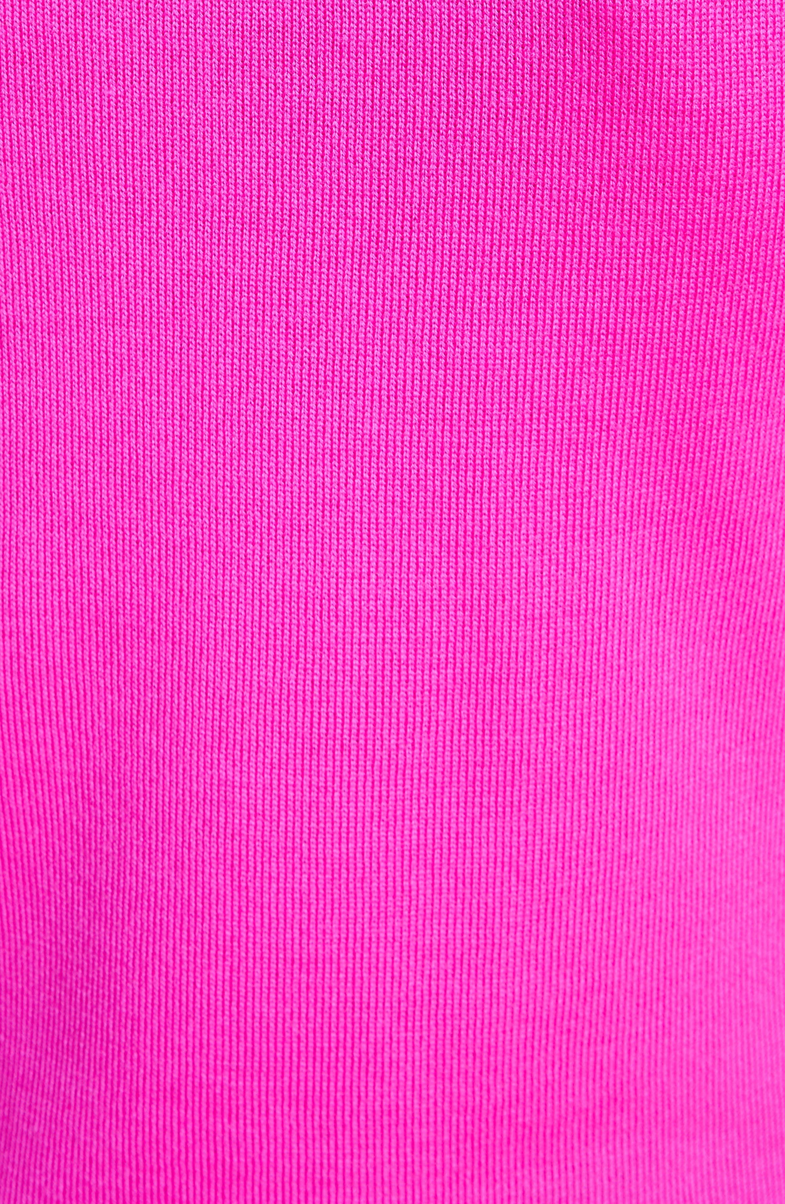 Ottoman Stitch Wool Shell,                             Alternate thumbnail 5, color,                             Zinnia