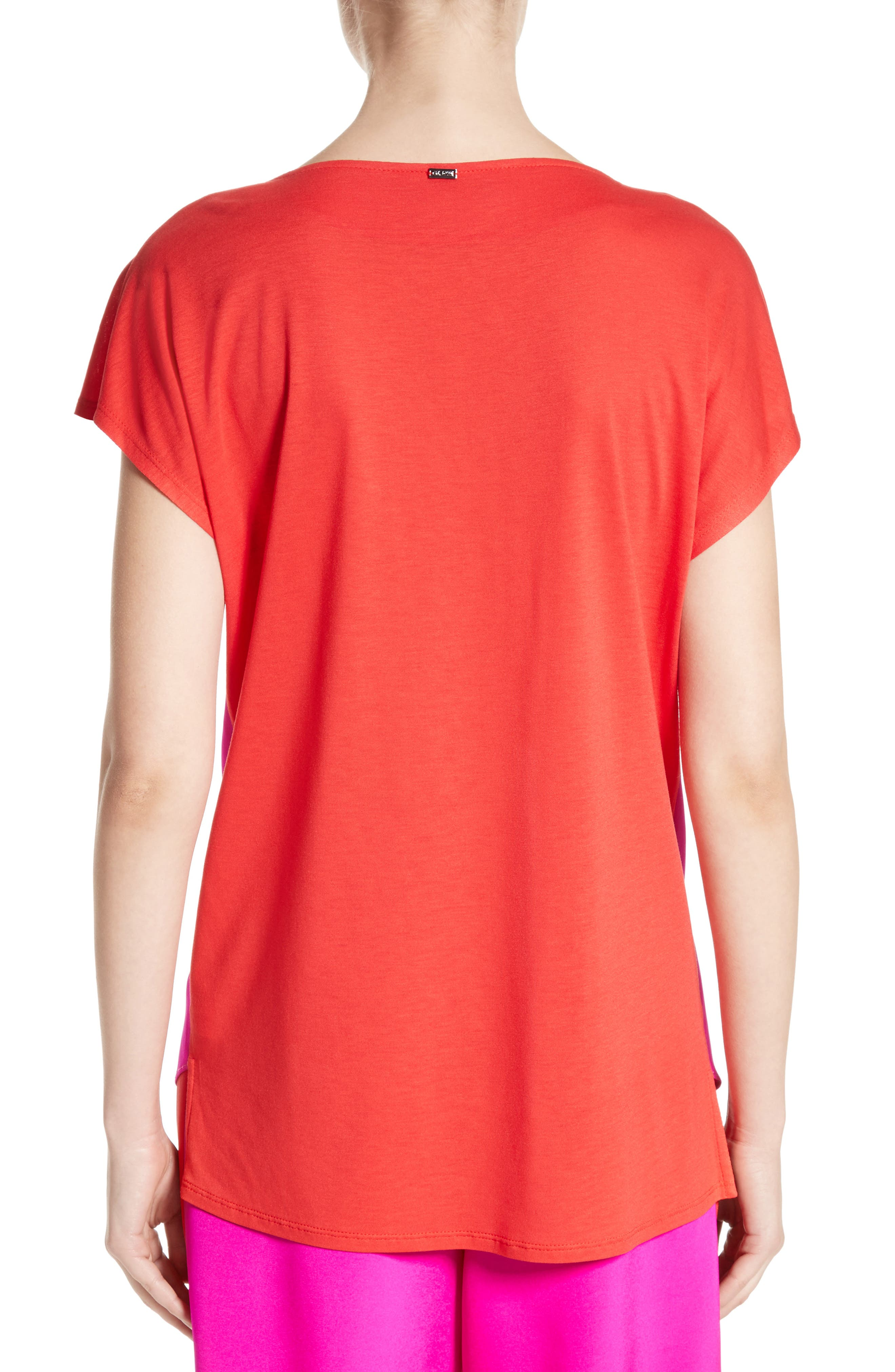 Alternate Image 2  - St. John Collection Stretch Silk & Jersey Tassel Blouse