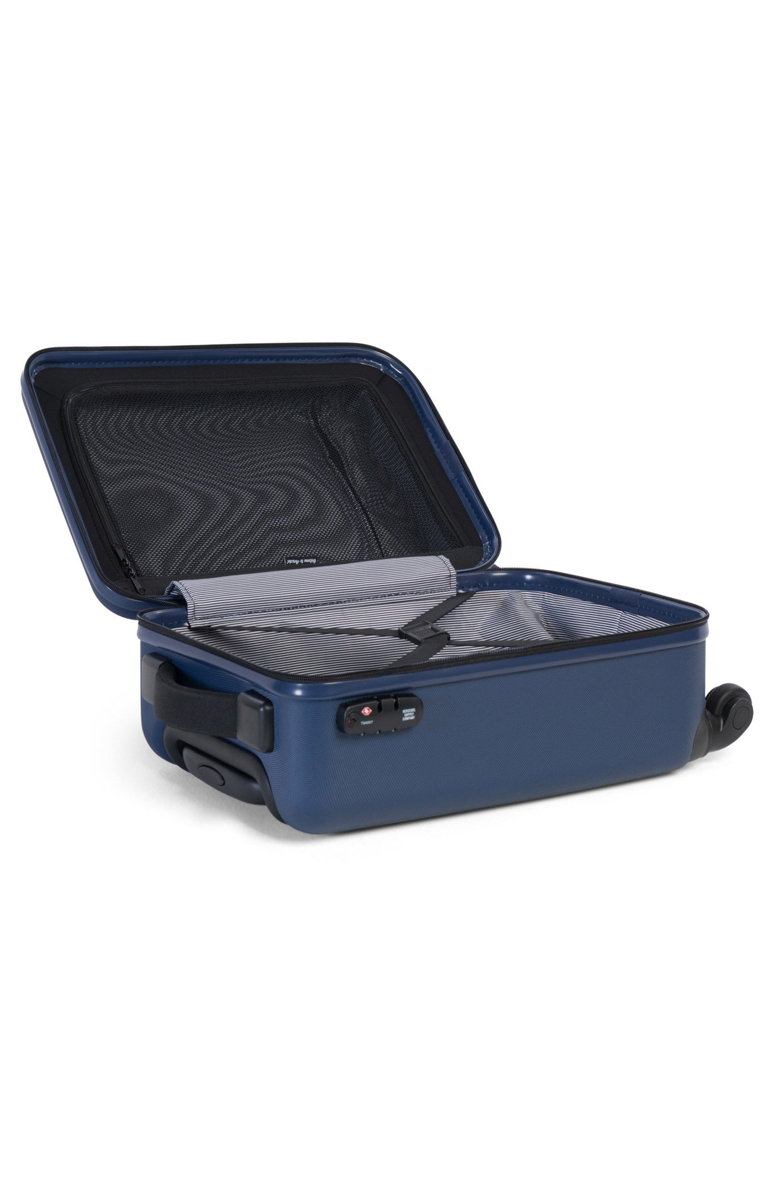 Herschel Supply Co Trade Small 20-Inch Rolling Hard Shell Suitcase,                             Alternate thumbnail 2, color,                             Navy